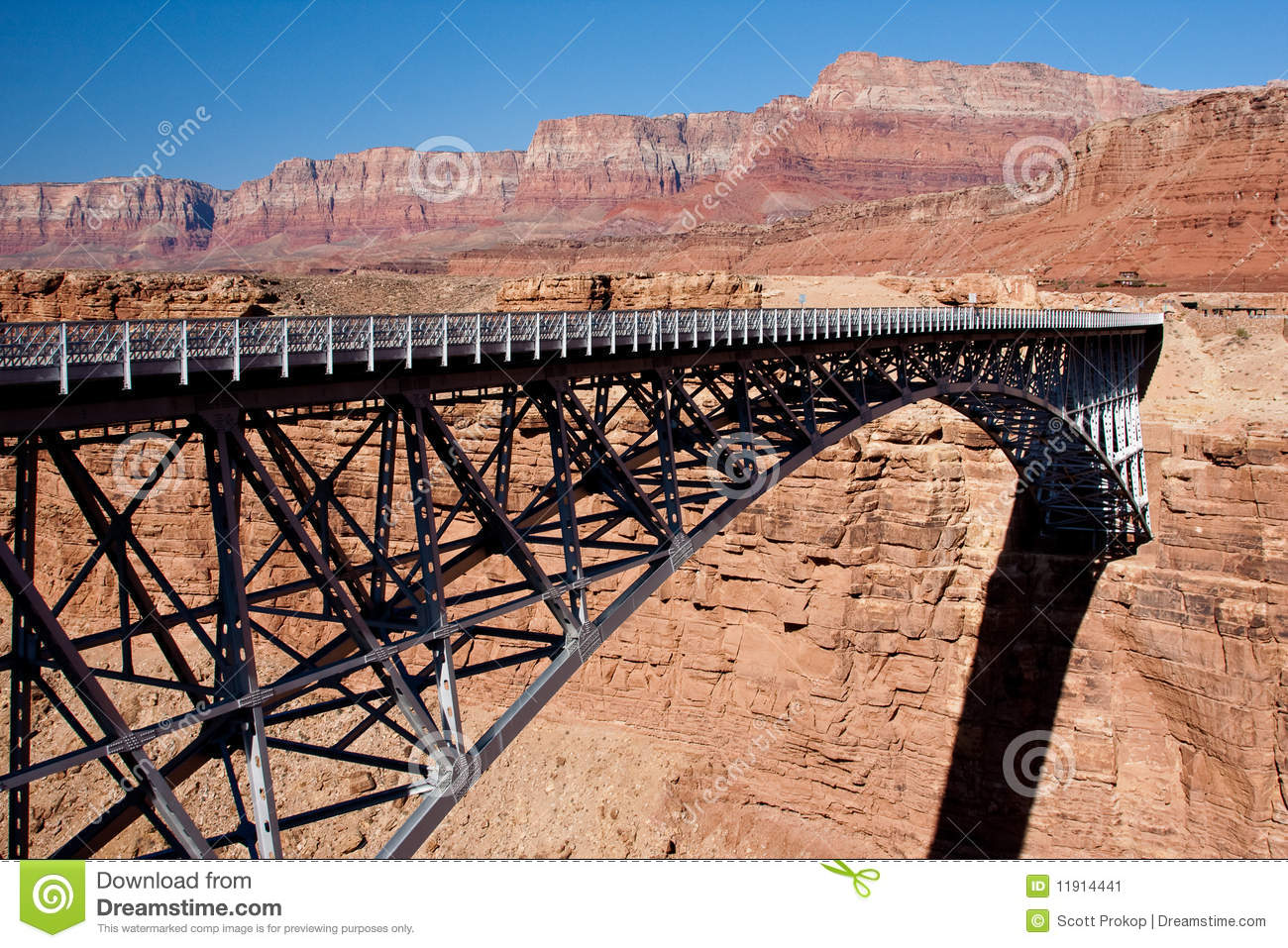 Bridge Over The Grand Canyon Stock Image Image 11914441