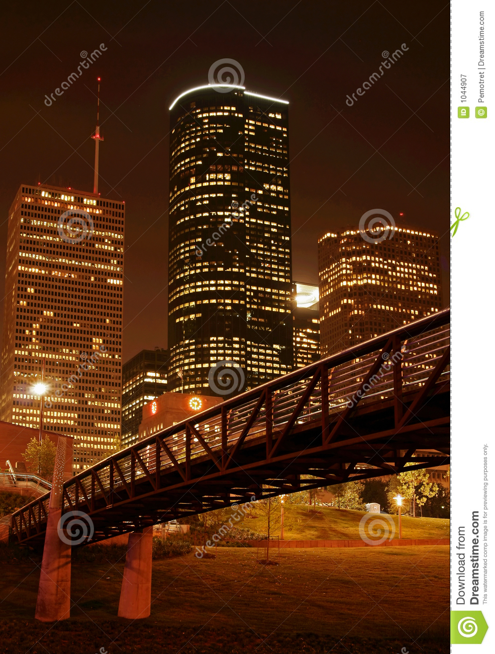 Bridge Over Night Skyline