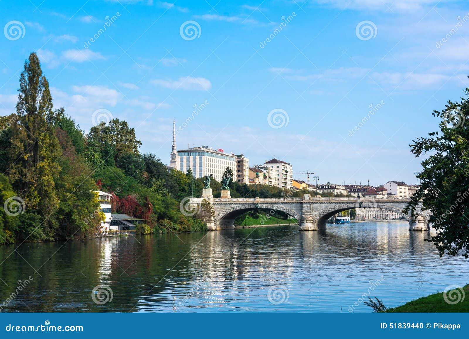 40e6c53f80 The Bridge Over The Po River In Turin Editorial Image - Image of ...