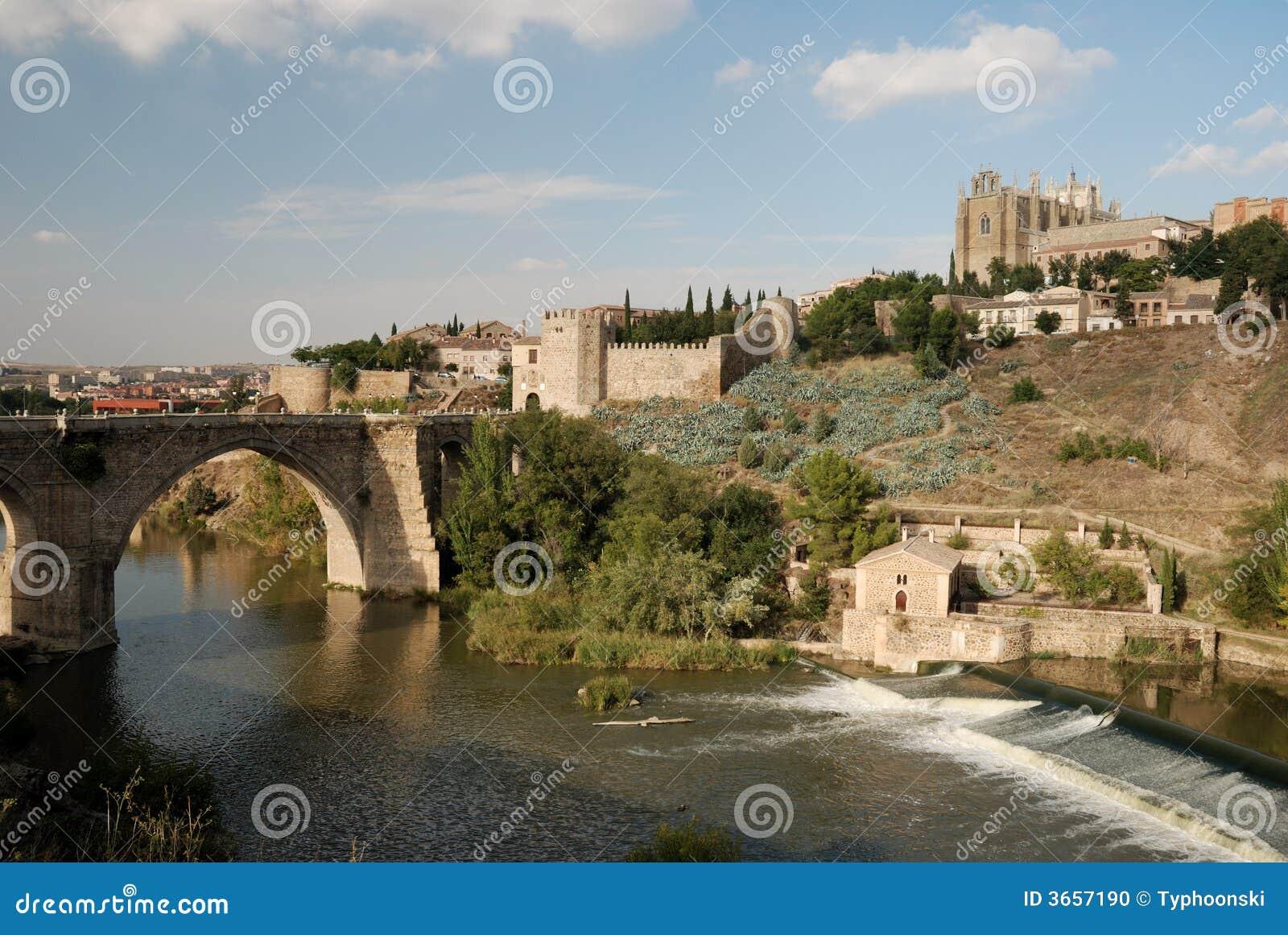 Bridge over the Tagus river in Toledo