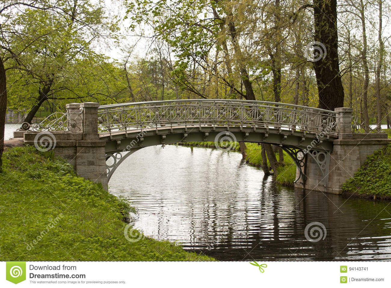 The bridge in the Palace Park.