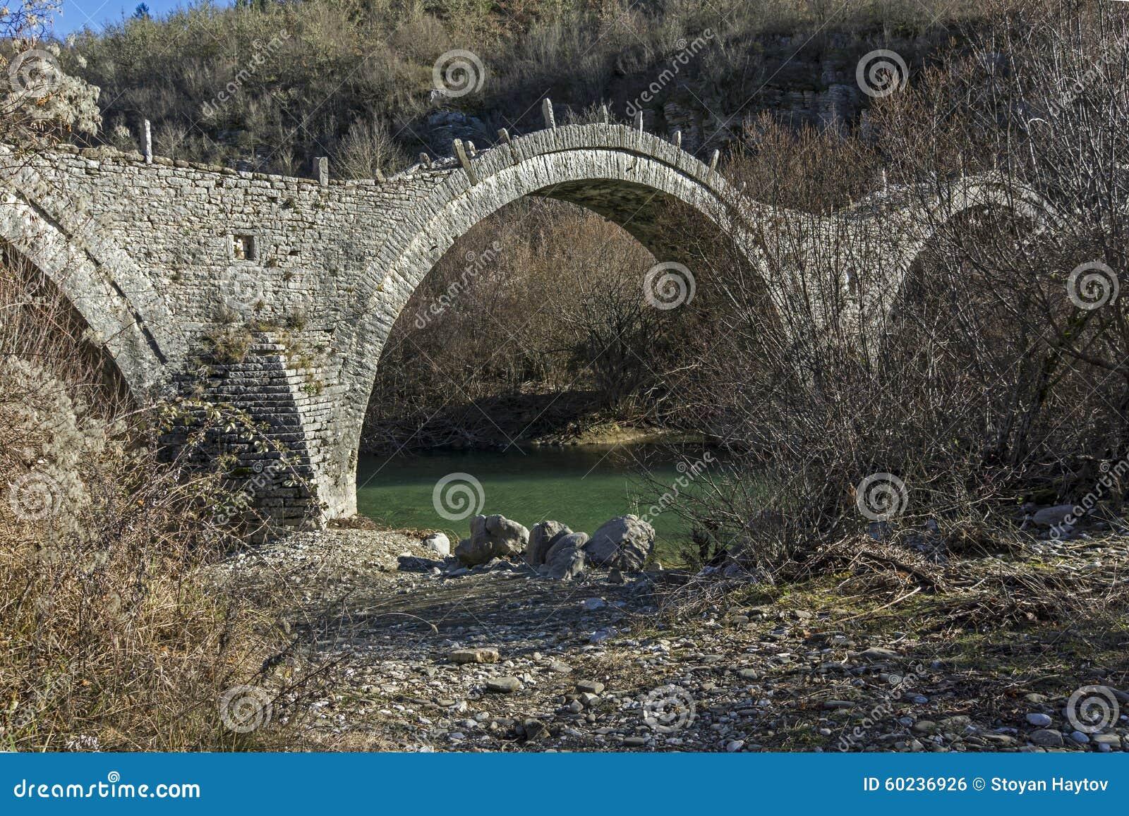 Download Bridge Of Plakidas Or Kalogeriko, Pindus Mountains, Zagori, Epirus Stock Photo - Image of nature, rock: 60236926