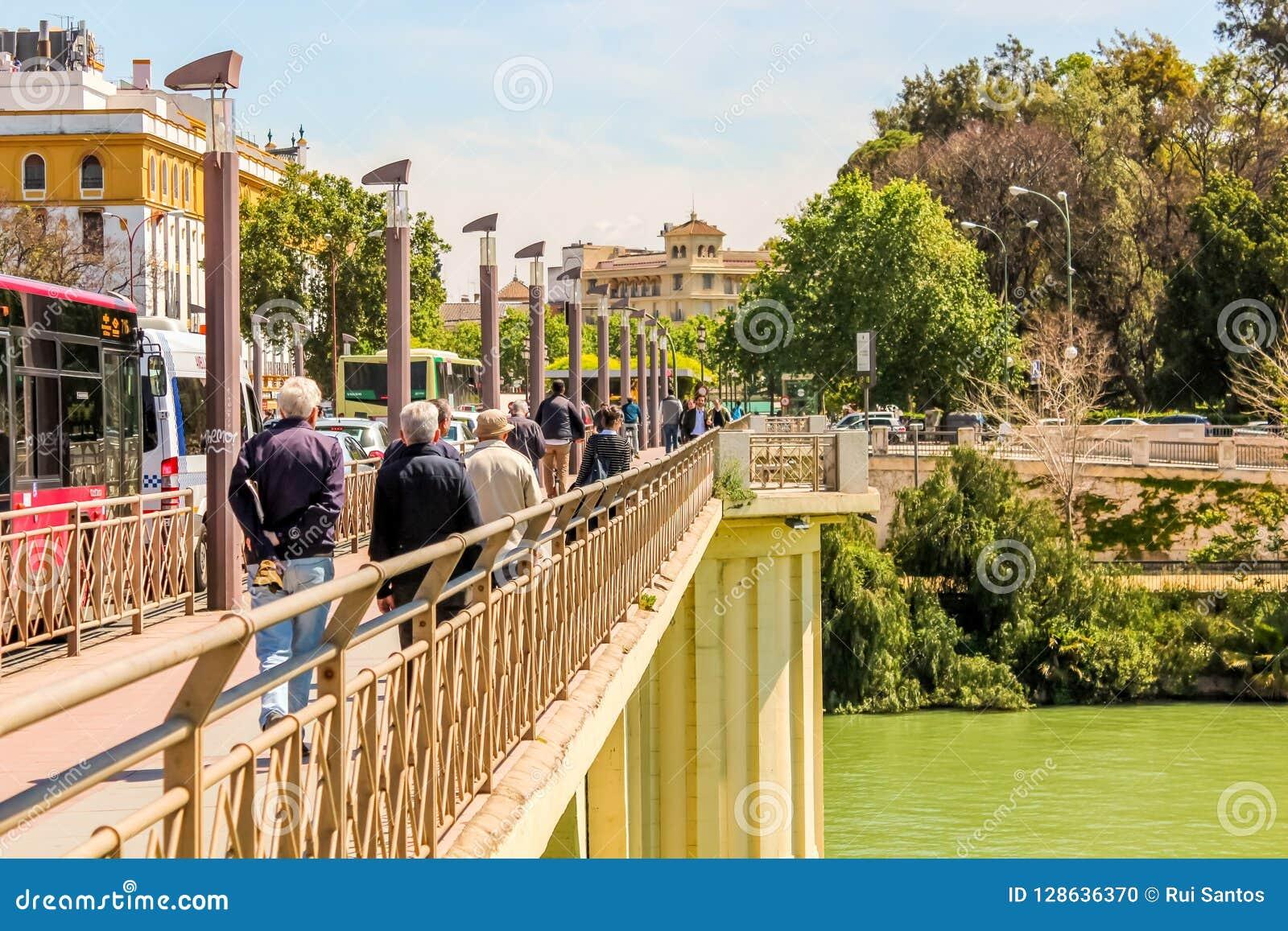 Bridge Puente San Telmo, in Seville, Spain
