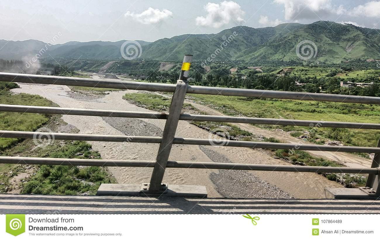A bridge in Abottabad, Haripur side with flowing water