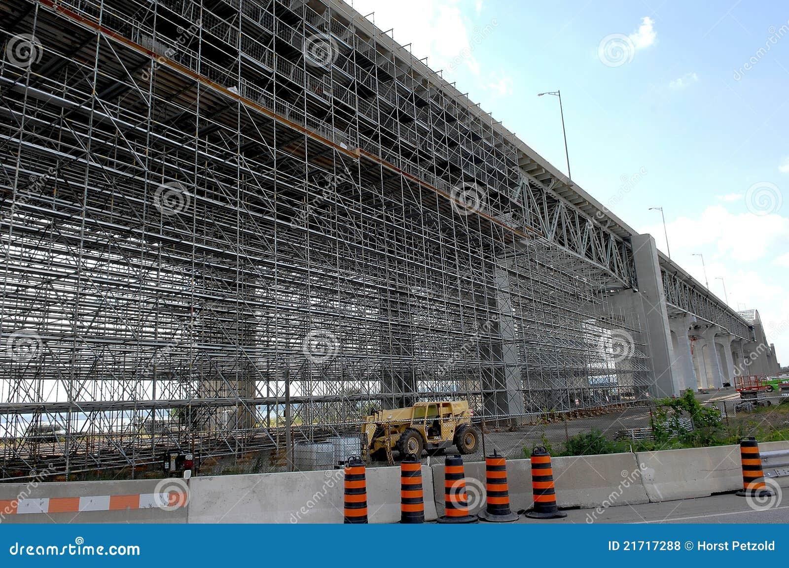 Bridge Repair With Scaffolding  Stock Photo - Image of link
