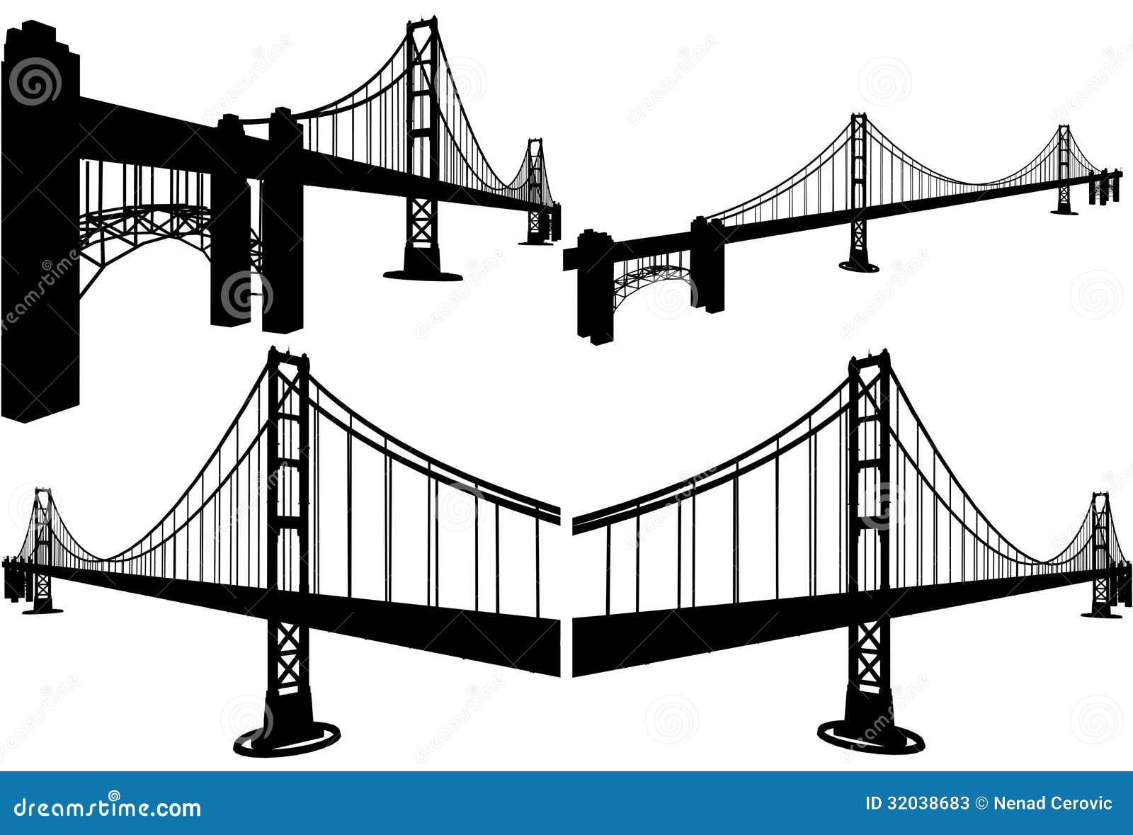 The Bridge Silhouettes Vector 07 Stock Photos - Image ...