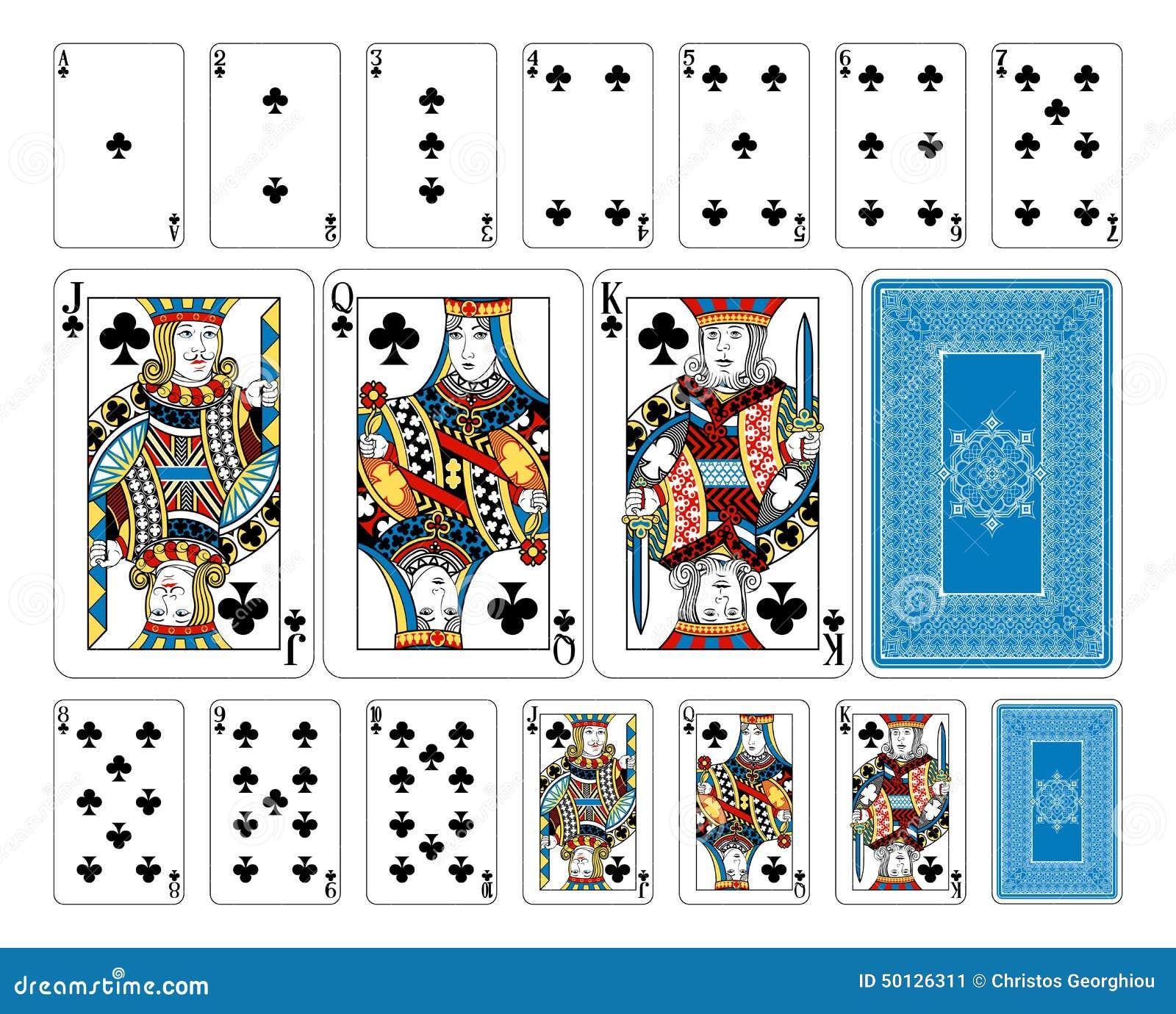 Bridge size club playing cards plus reverse stock vector image bridge size club playing cards plus reverse biocorpaavc
