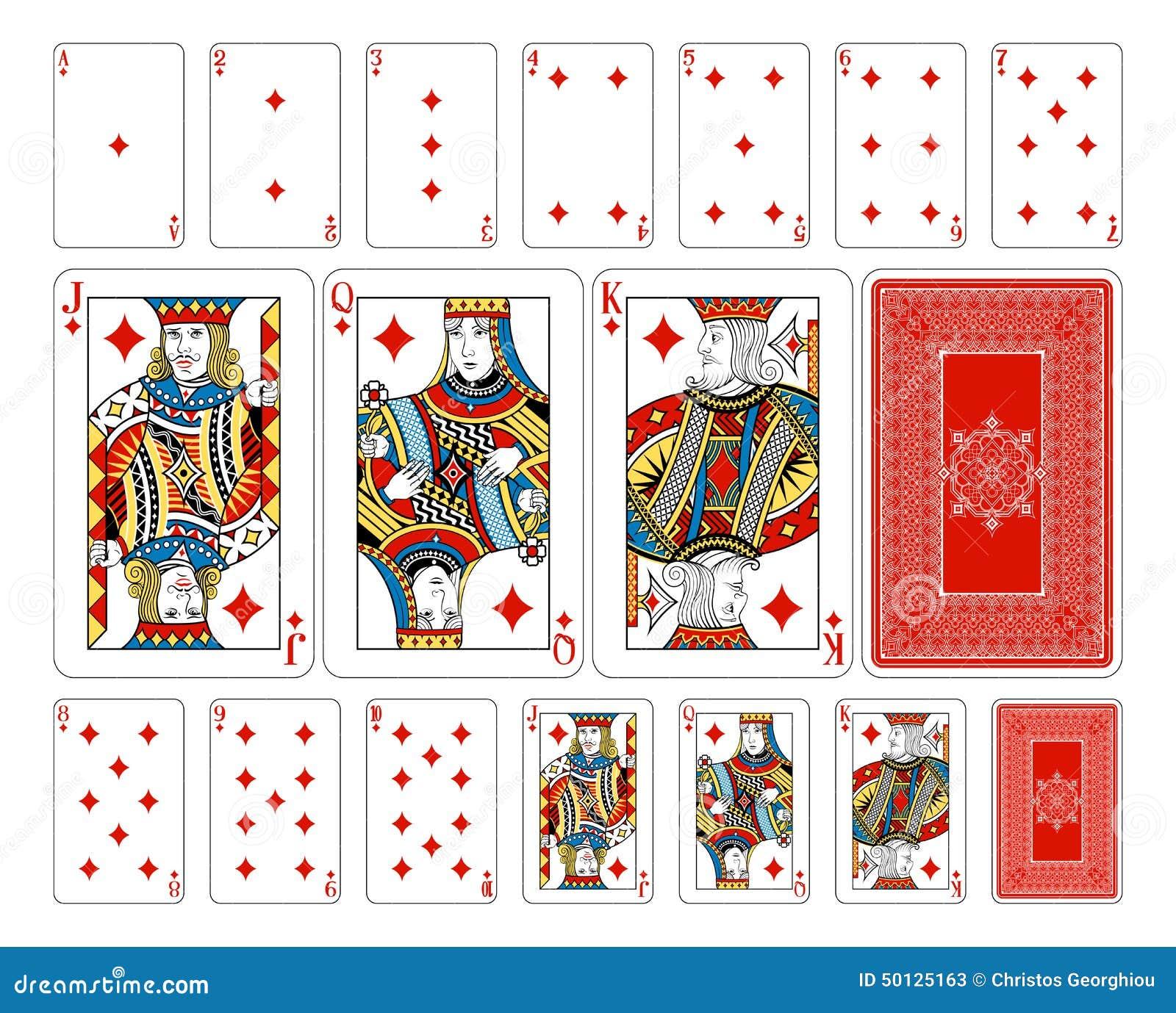 Bridge size diamond playing cards plus reverse stock vector bridge size diamond playing cards plus reverse biocorpaavc