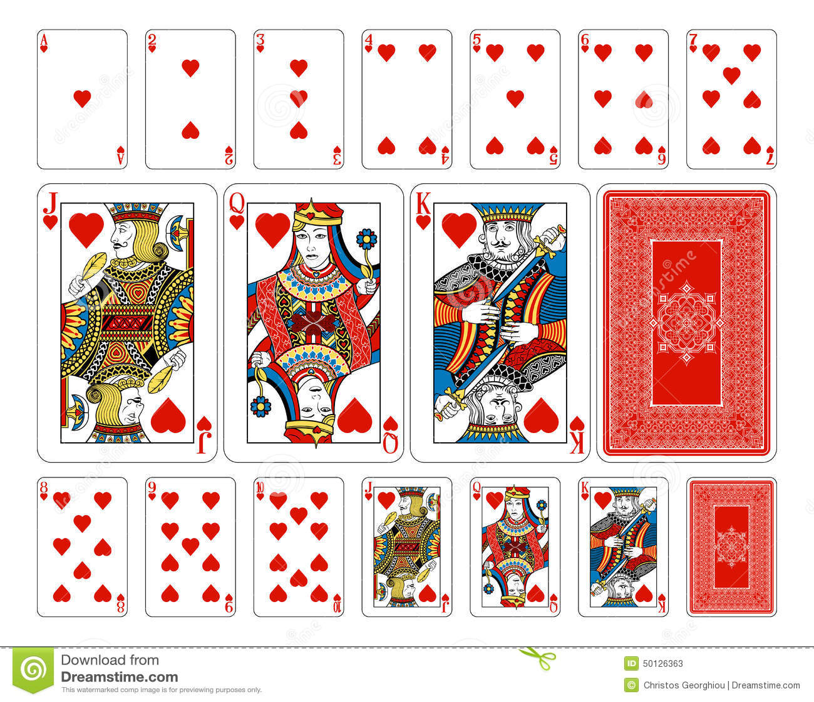 Bridge size heart playing cards plus reverse stock vector bridge size heart playing cards plus reverse biocorpaavc