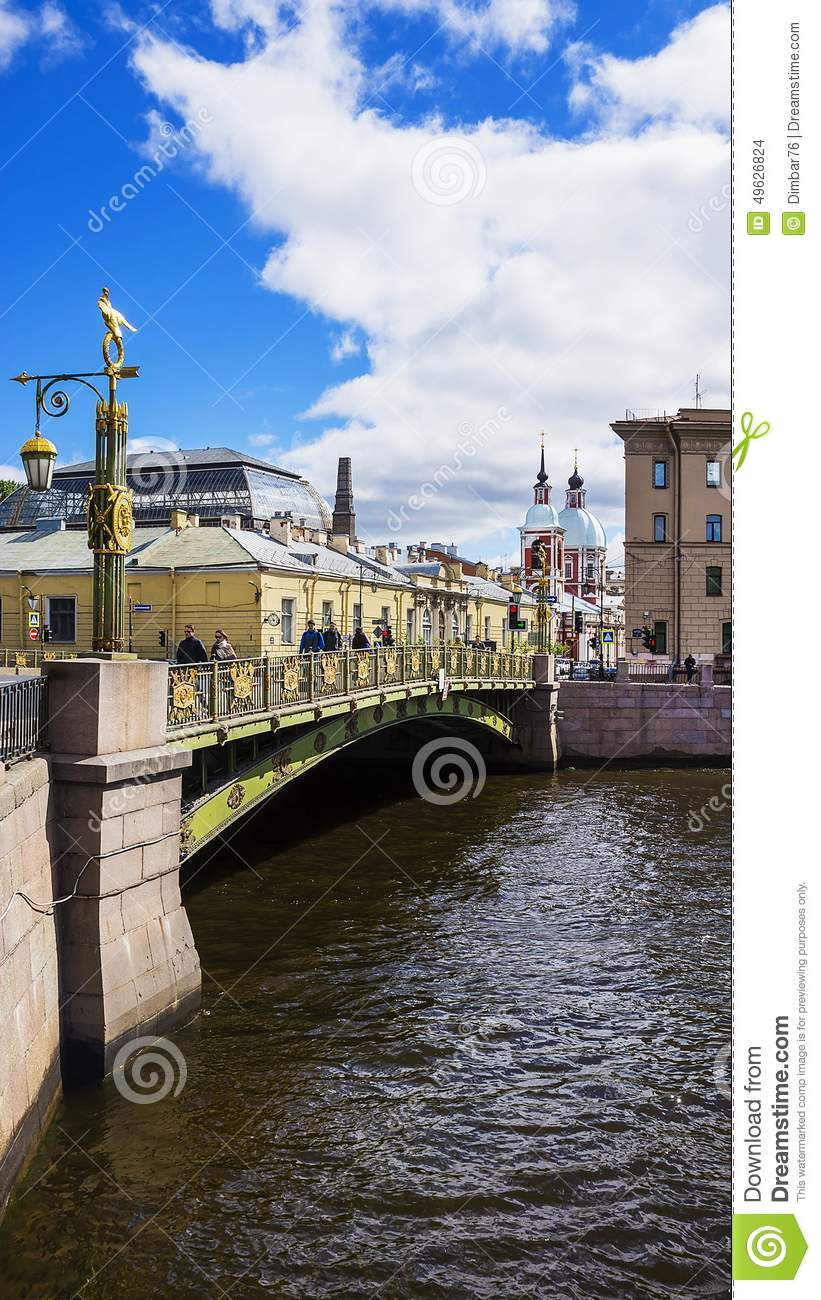 Stock photo: bridge in st. petersburg, russia