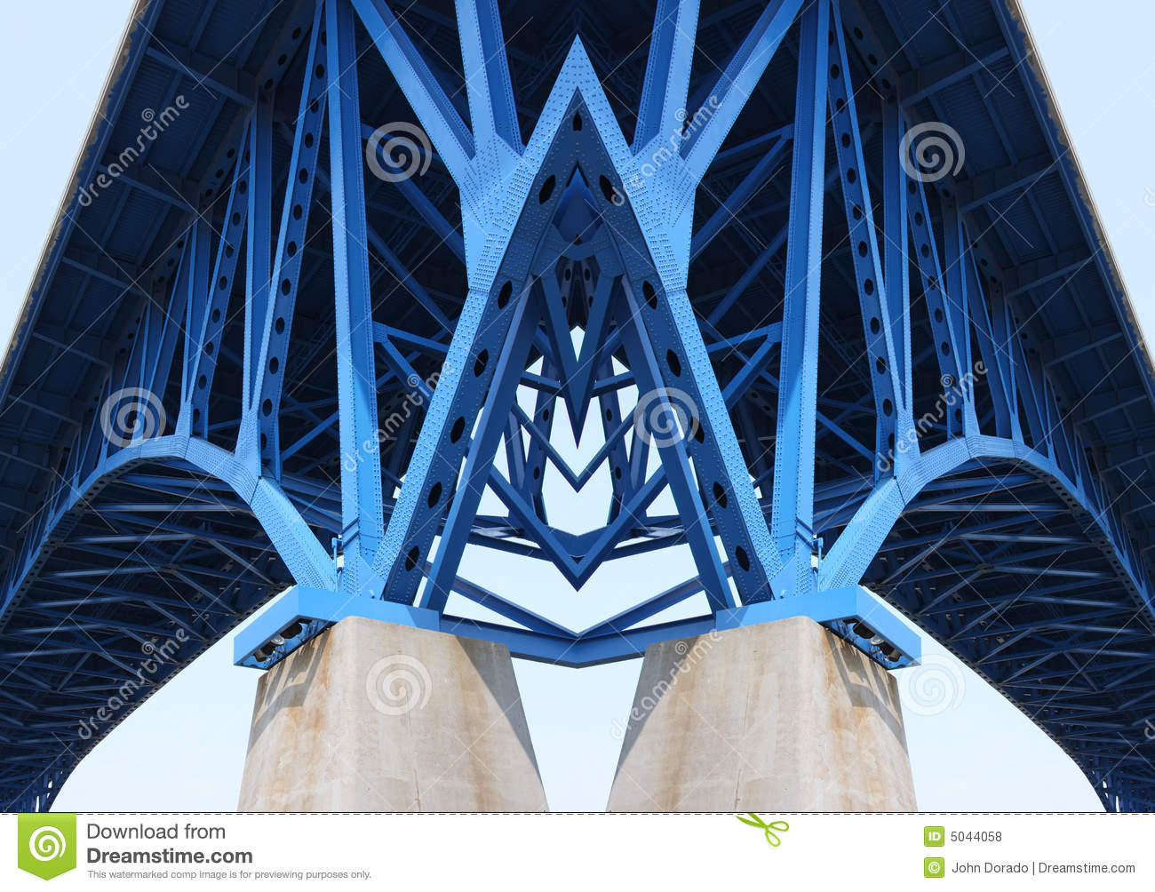 Bridge Support Beams Stock Photo Image Of Engineering