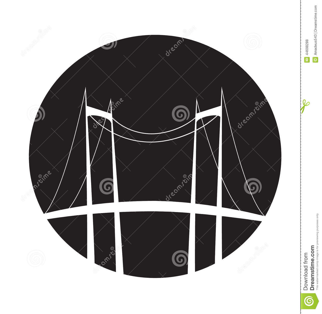 Bridge Symbol Stock Vector Illustration Of Illustration