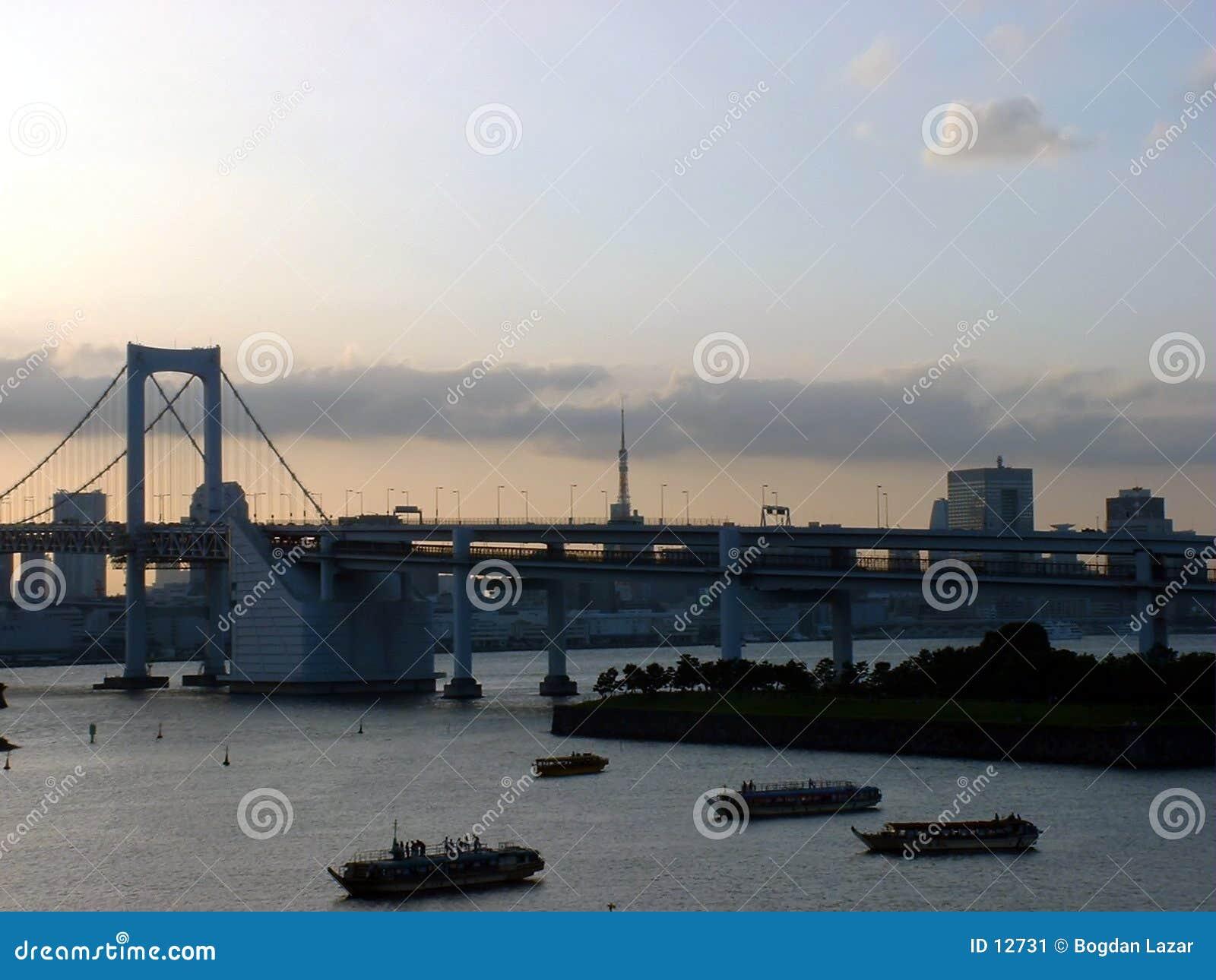 Bridge tęczy Japonii Tokio