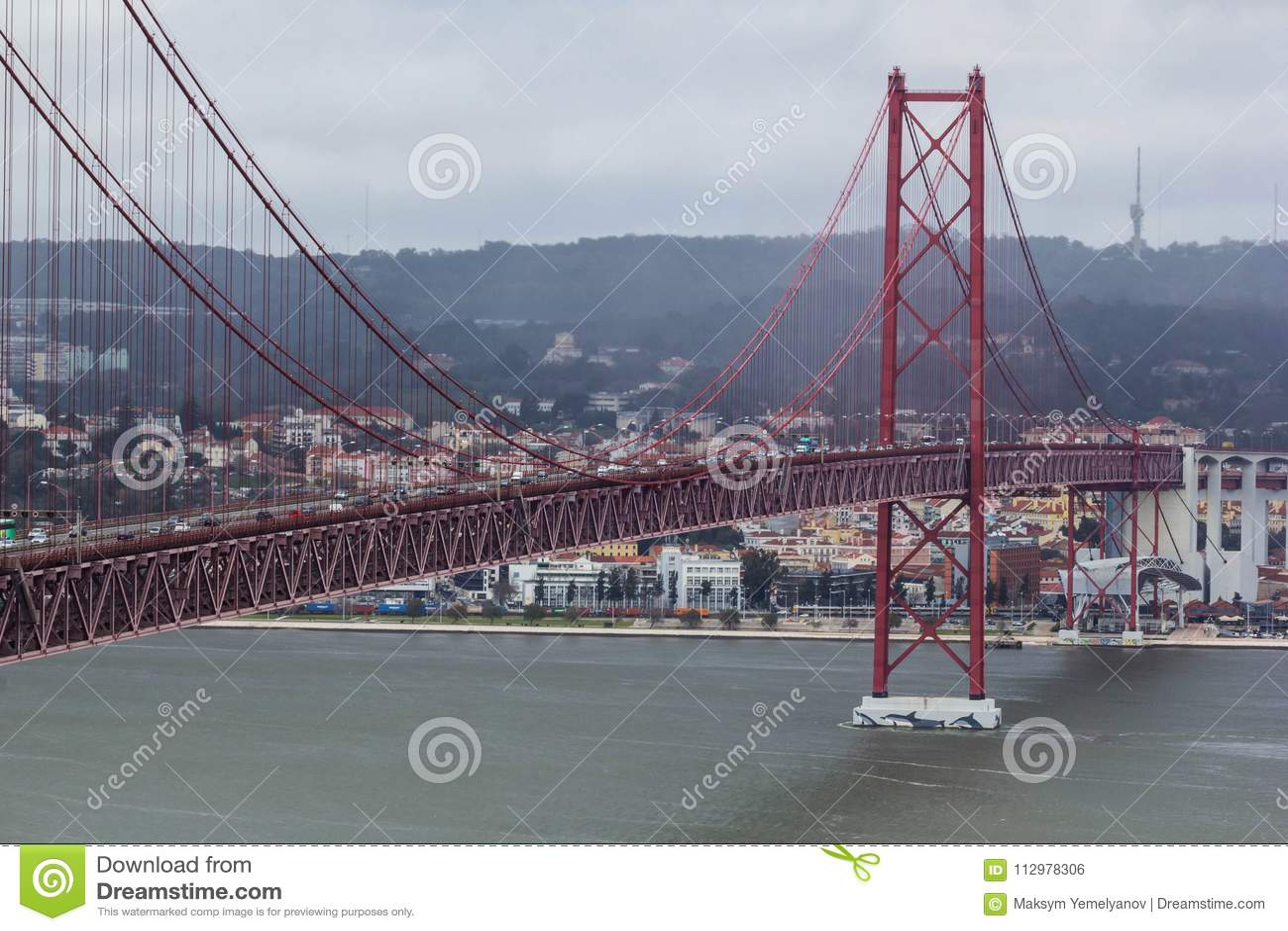 Bridge of 25th aprilPonte 25 de Abril in Lisbon, Portugal