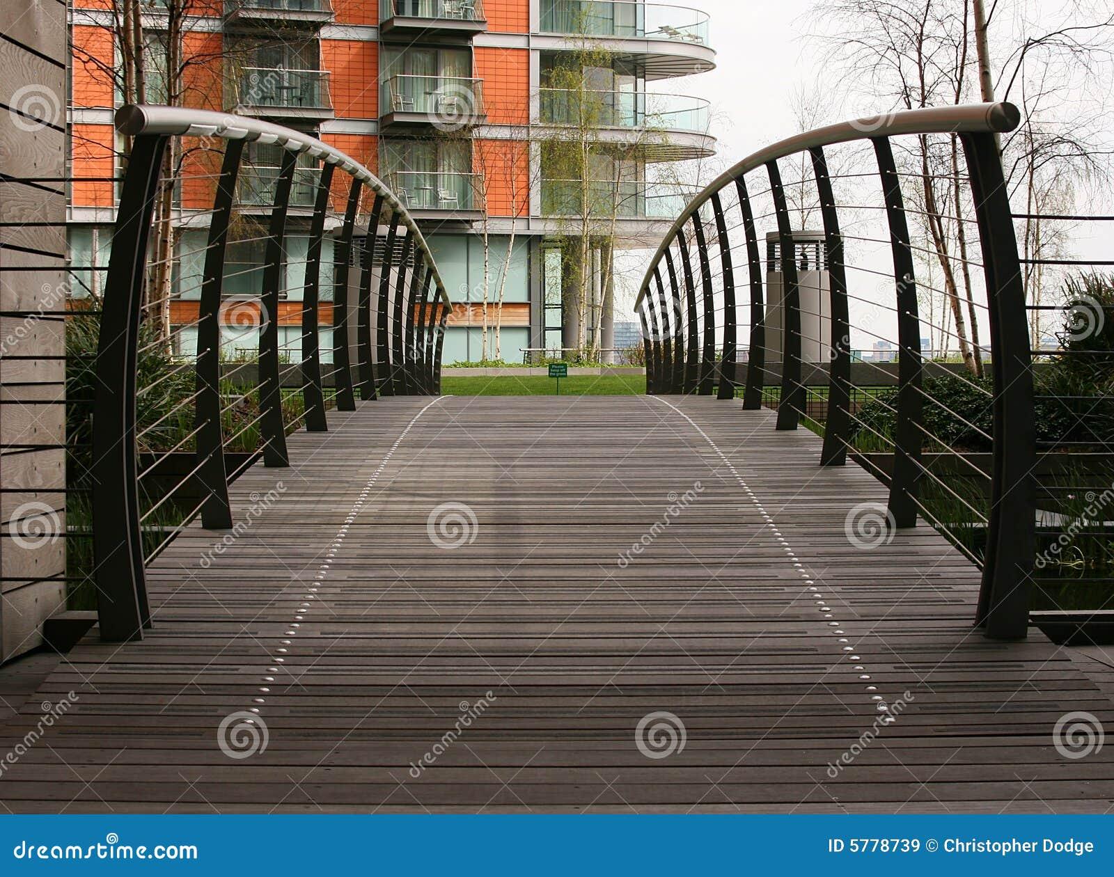 Bridge to apartments