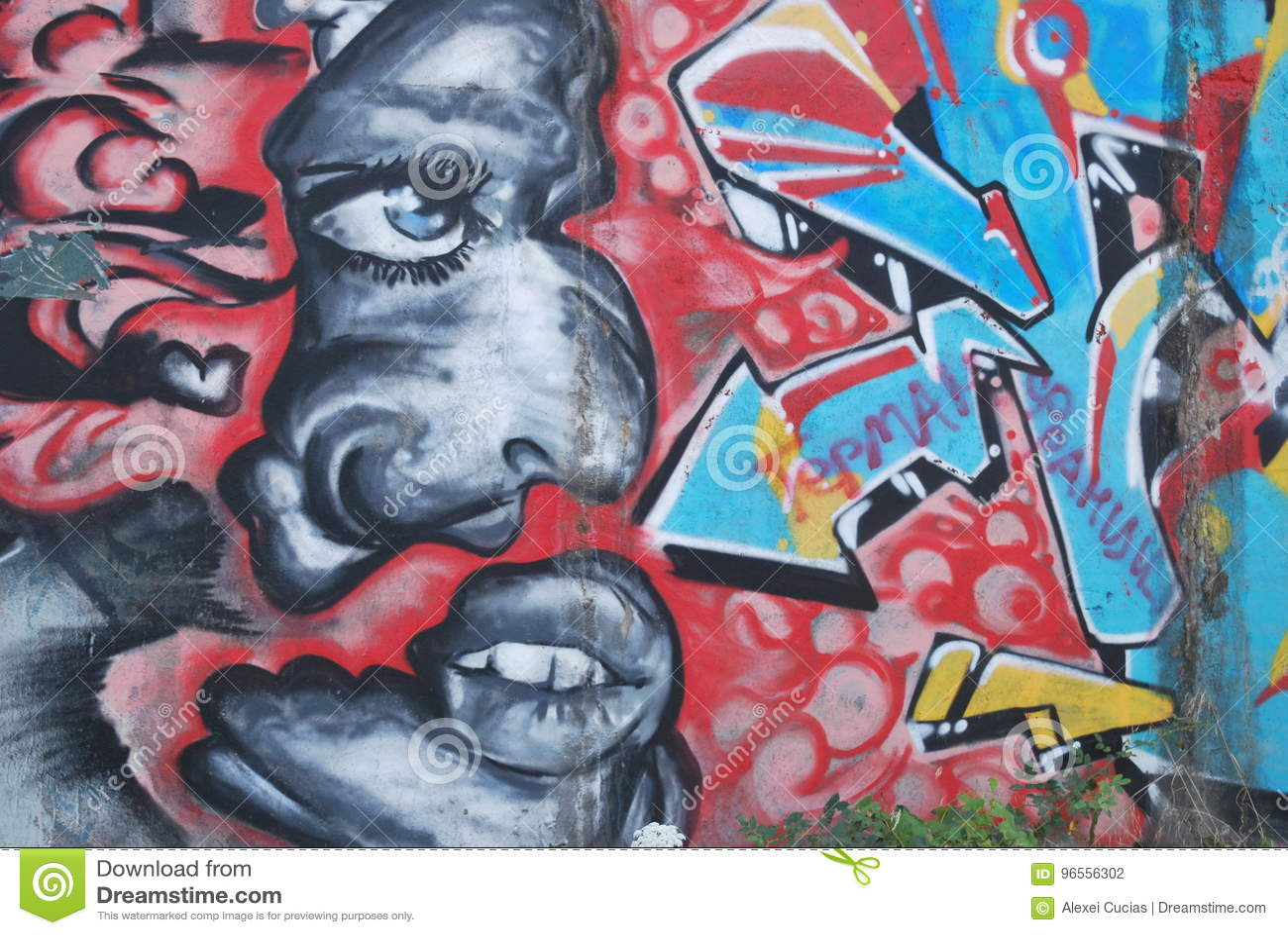 A bridge vandalized with street graffiti art