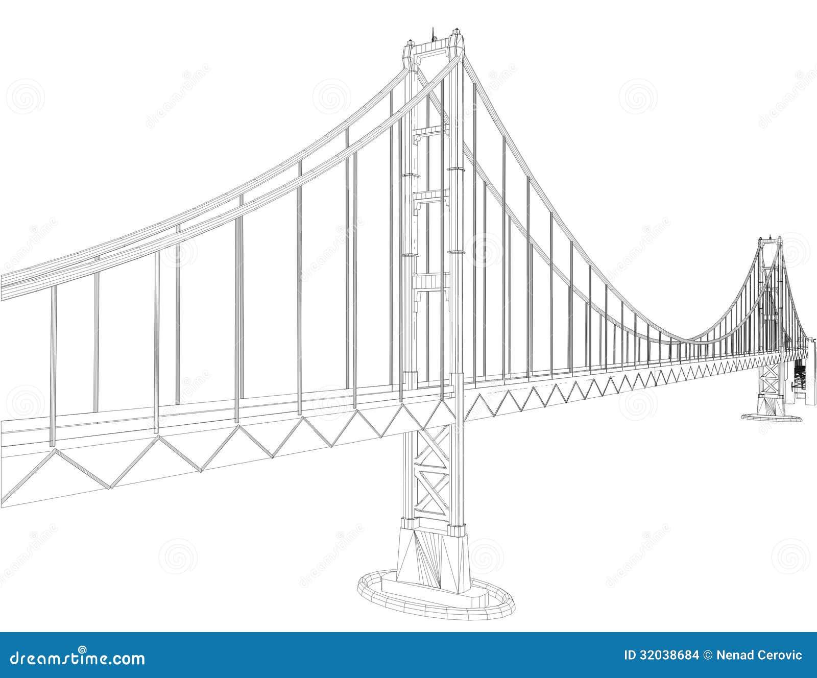 the bridge vector 04 stock vector  image of steel  engineering