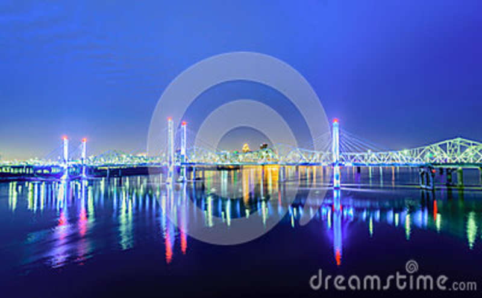 Bridges of Louisville KY at dawn