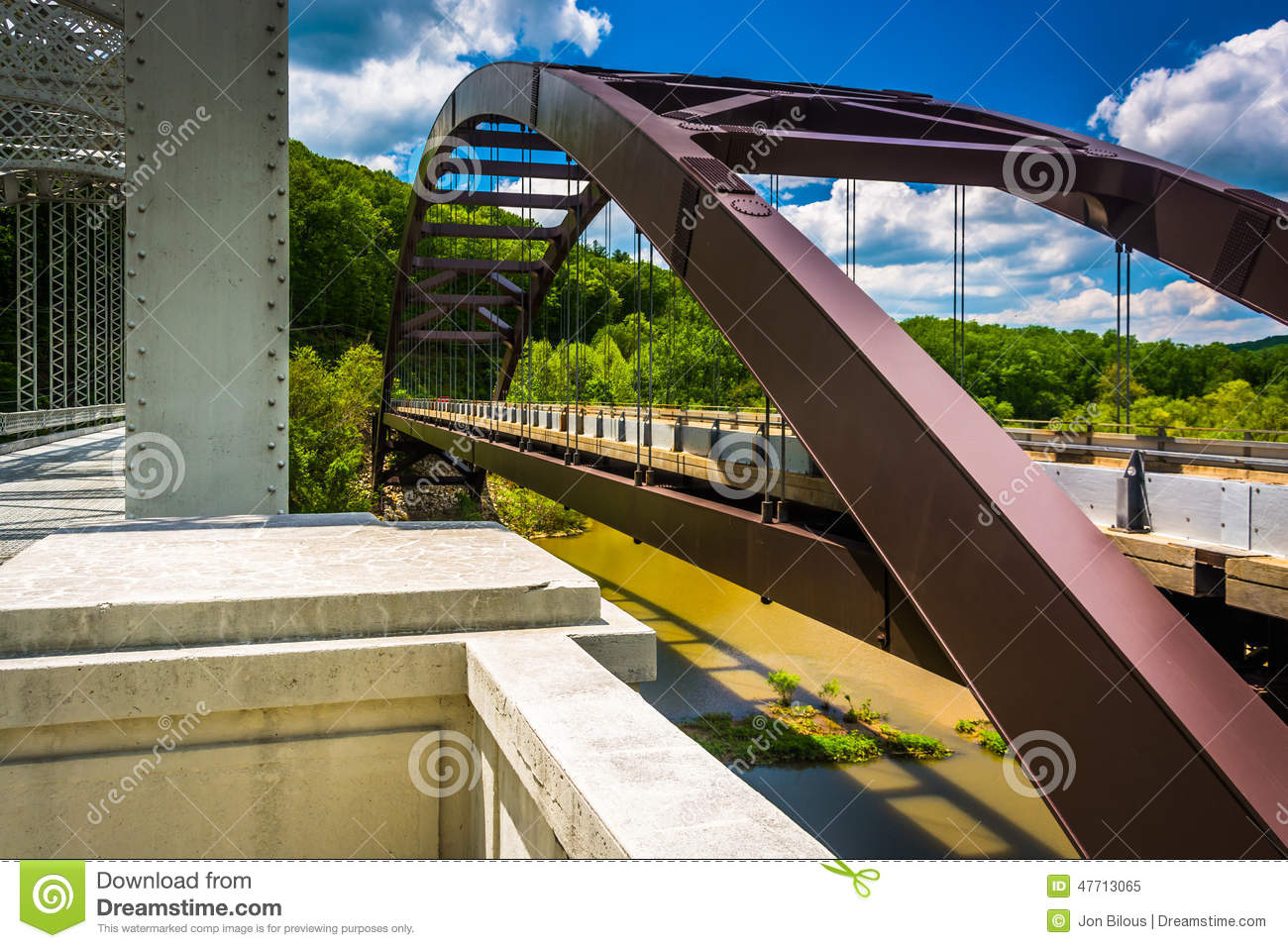 Bridges over Loch Raven Reservoir, in Baltimore, Maryland.