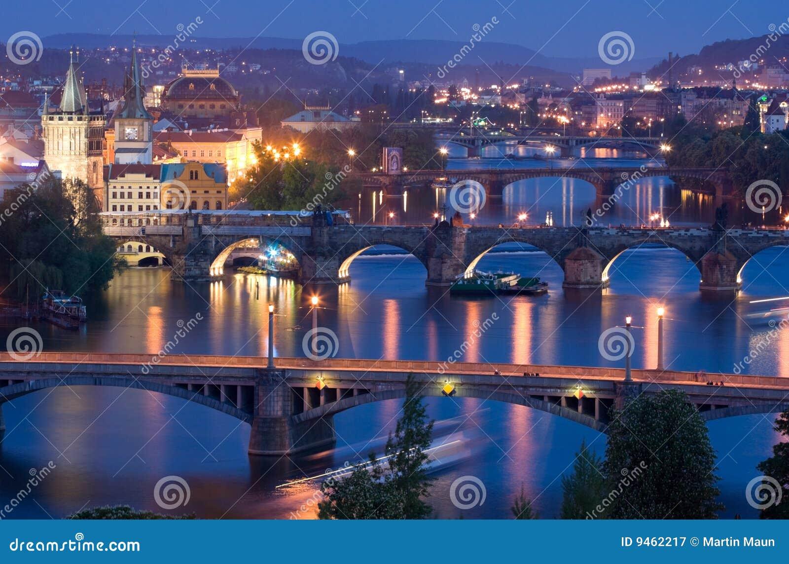 Download Bridges of Prague stock image. Image of historic, europe - 9462217