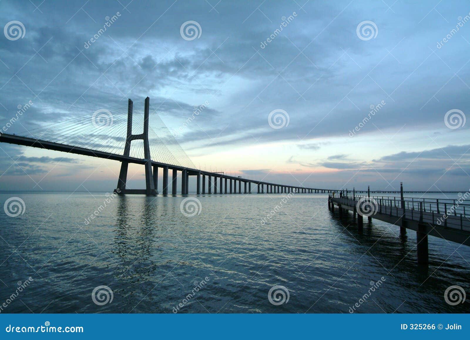 Bridges at sunrise