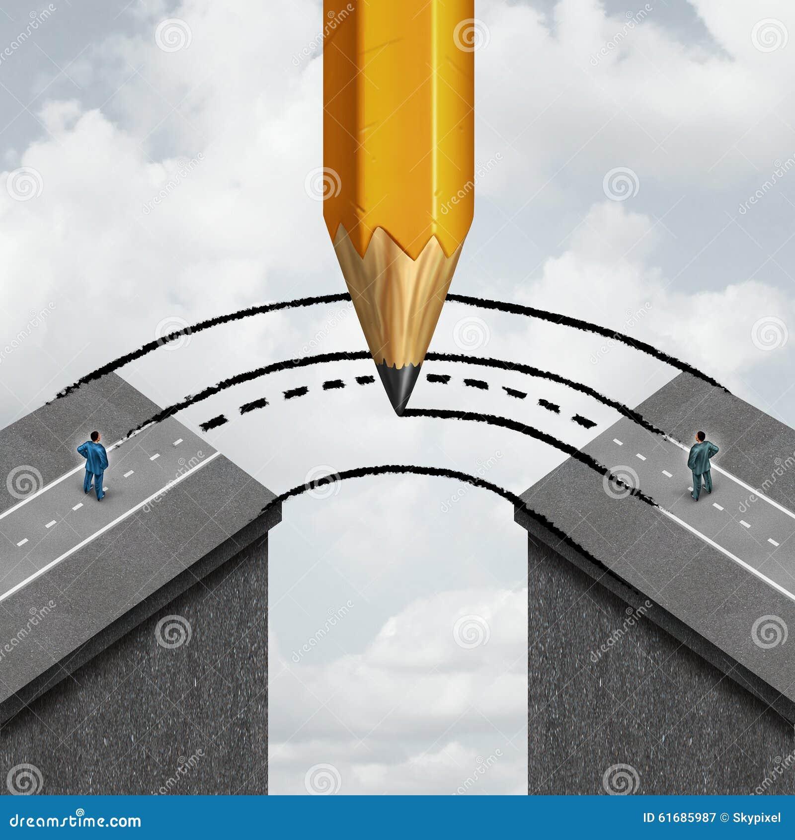bridging the gap stock illustration image of combine 61685987. Black Bedroom Furniture Sets. Home Design Ideas