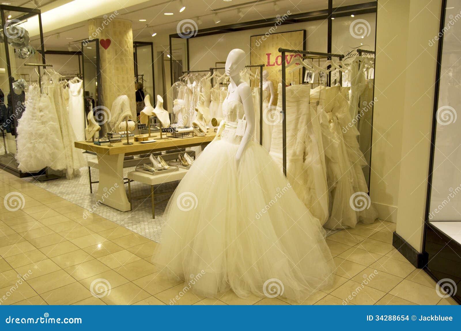 Bridle shop wedding dress editorial stock image image for Used wedding dresses seattle
