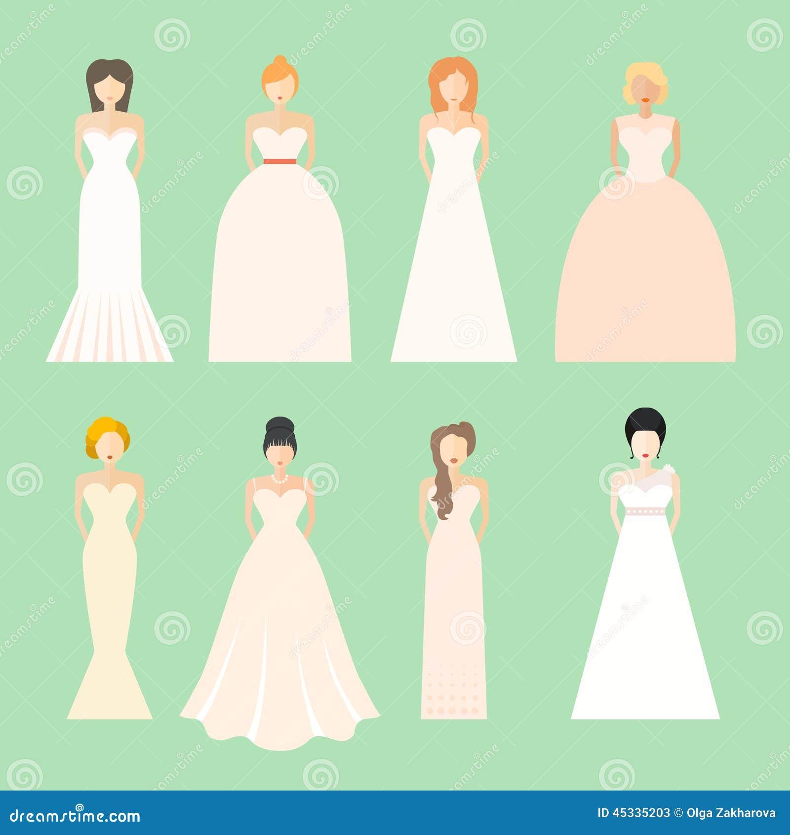 robe de mari e style pour le type de corps peinture