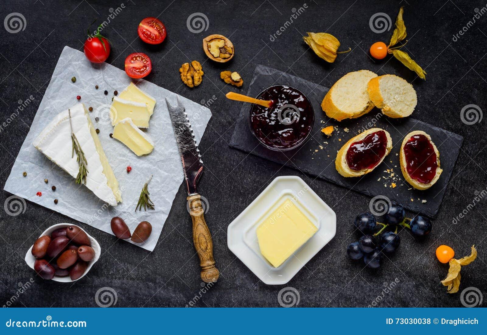 Brie Cheese com doce, forma de sustento
