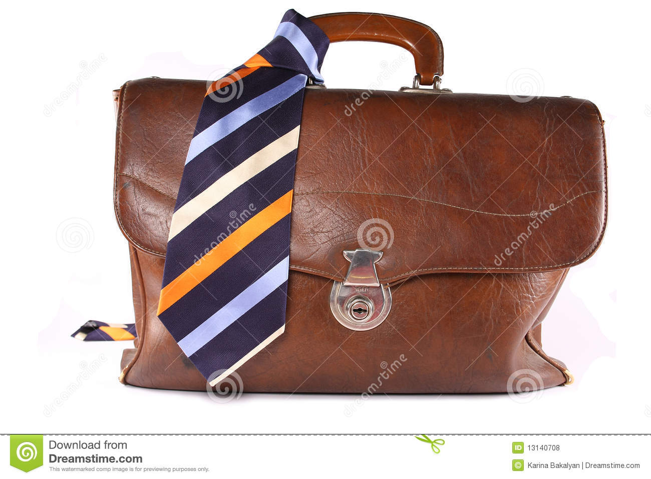 Brief-case with necktie