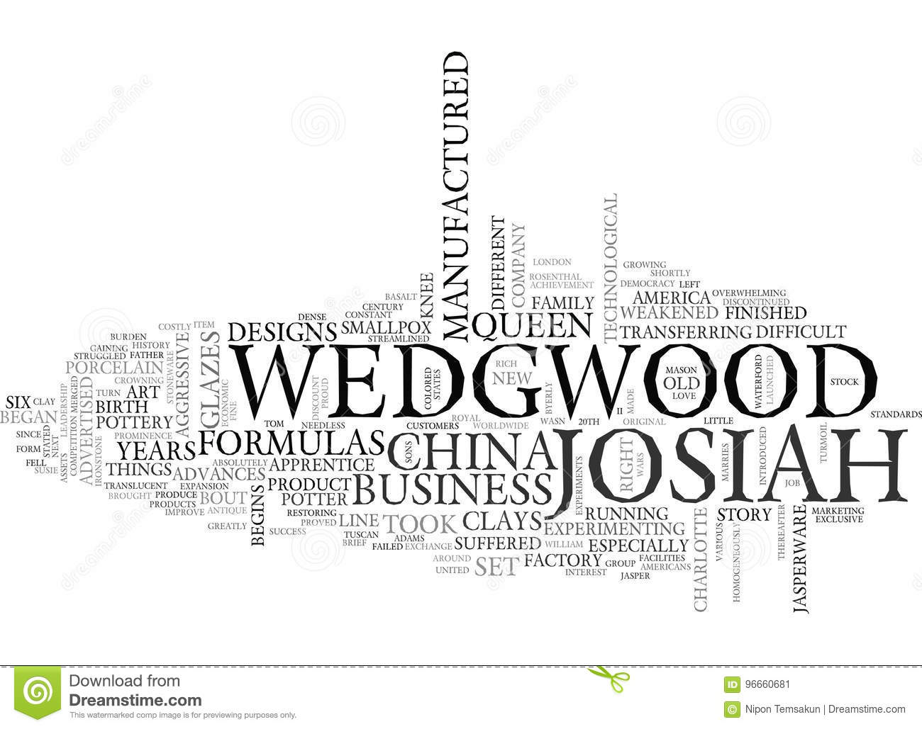 A Brief History Of Wedgwood China Word Cloud Stock Illustration