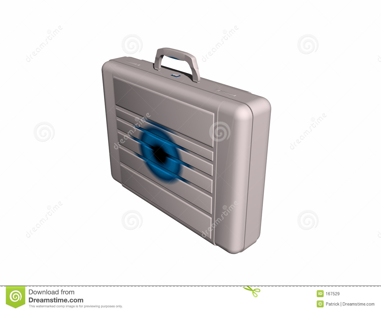 Briefcase from side.
