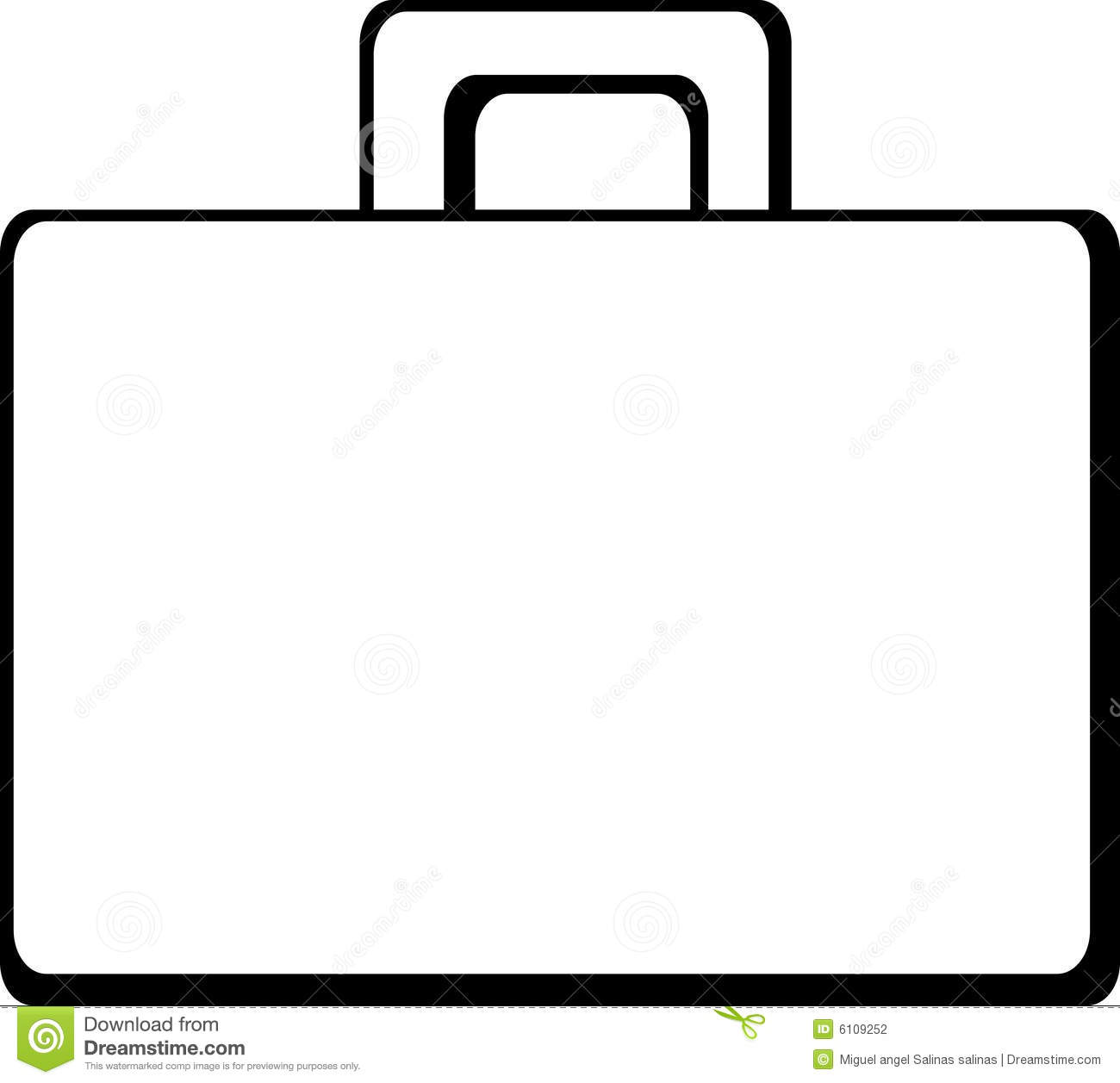 Briefcase Or Suitcase Vector Illustration Stock Photography - Image ...