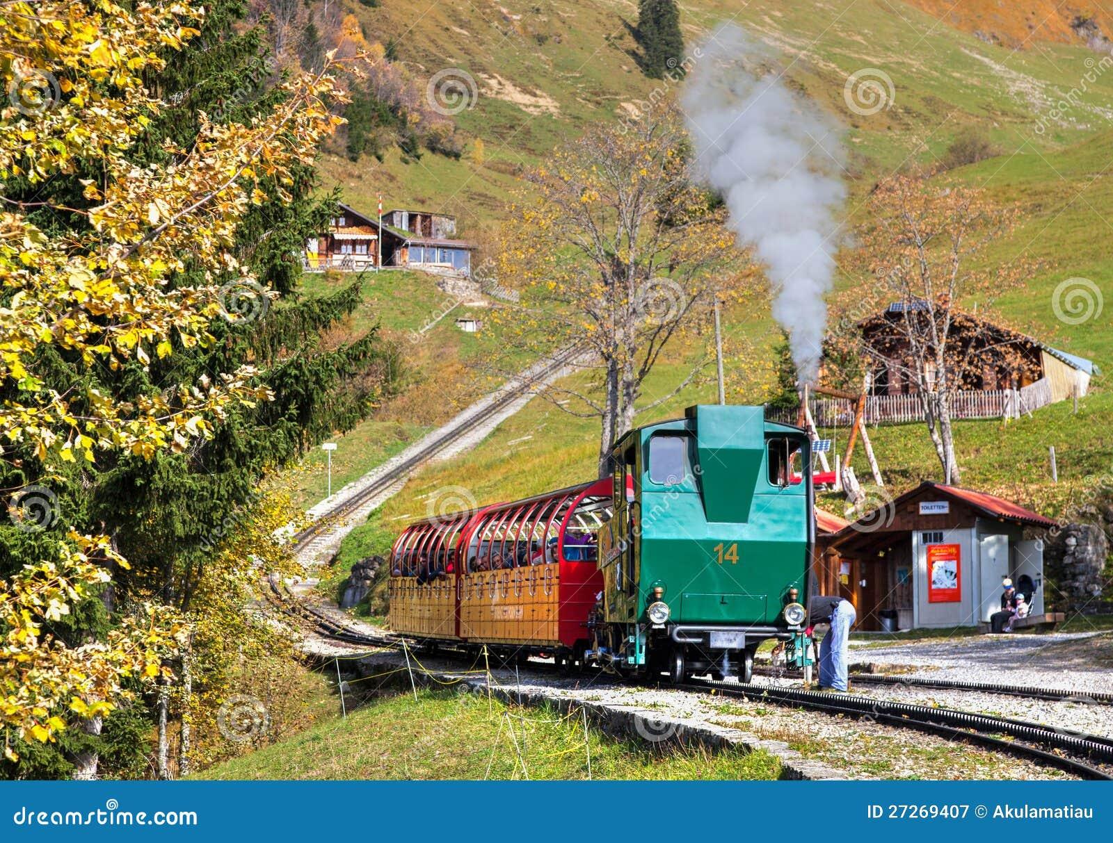 Brienz-Rothorn Kolej, Szwajcaria - Parowy Pociąg