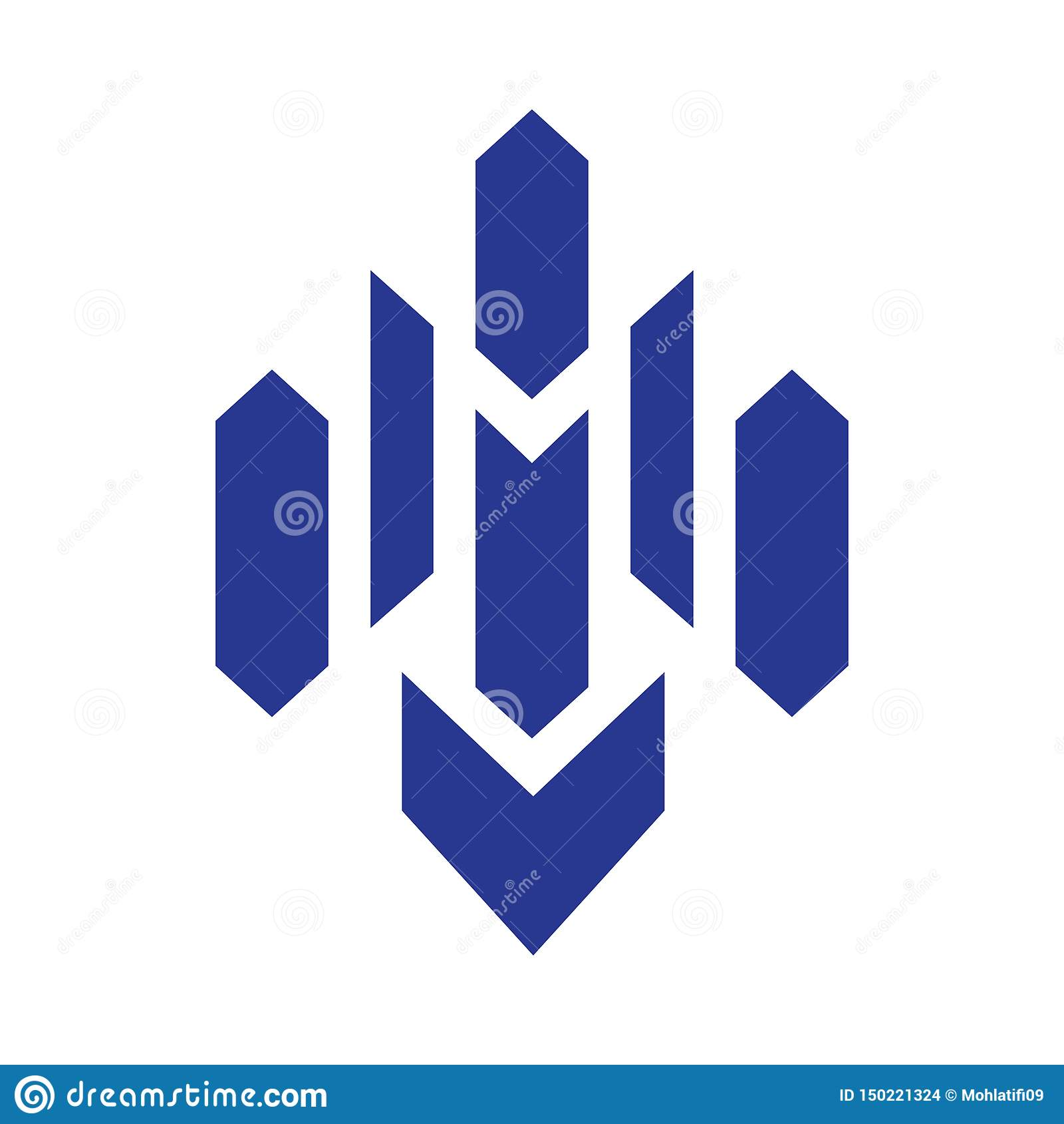 Brievenm Blue Logo vector