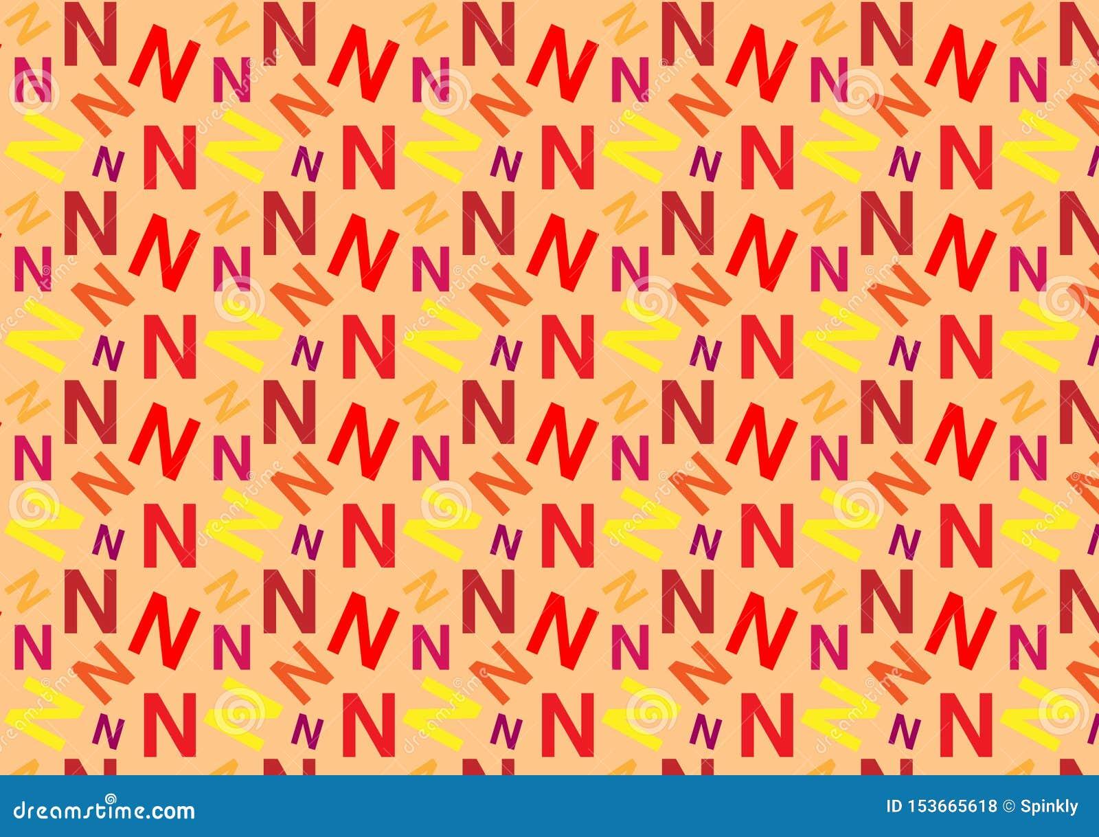 Brievenn patroon in verschillende gekleurde schaduwen voor behang