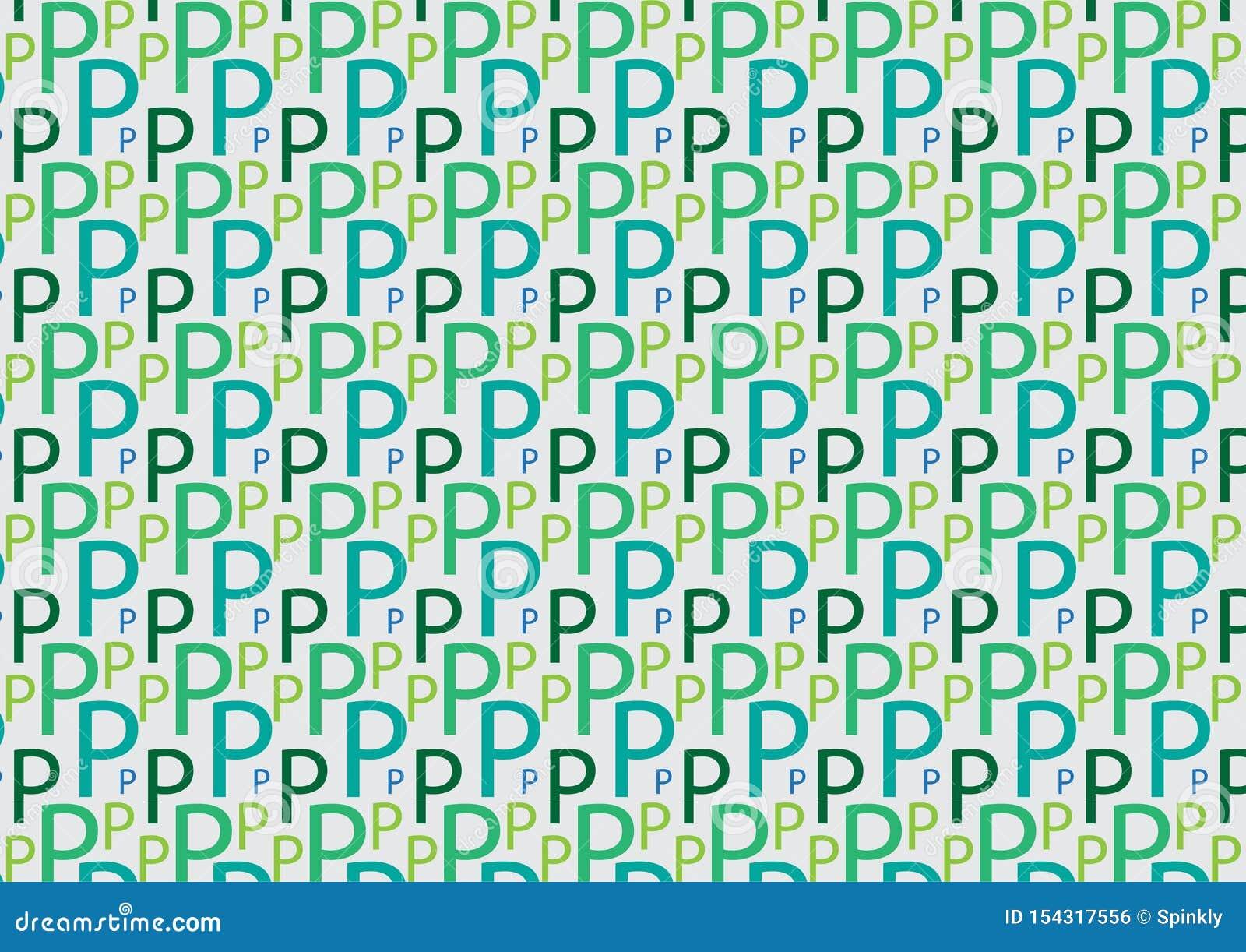 Brievenp patroon in verschillende gekleurde schaduwen