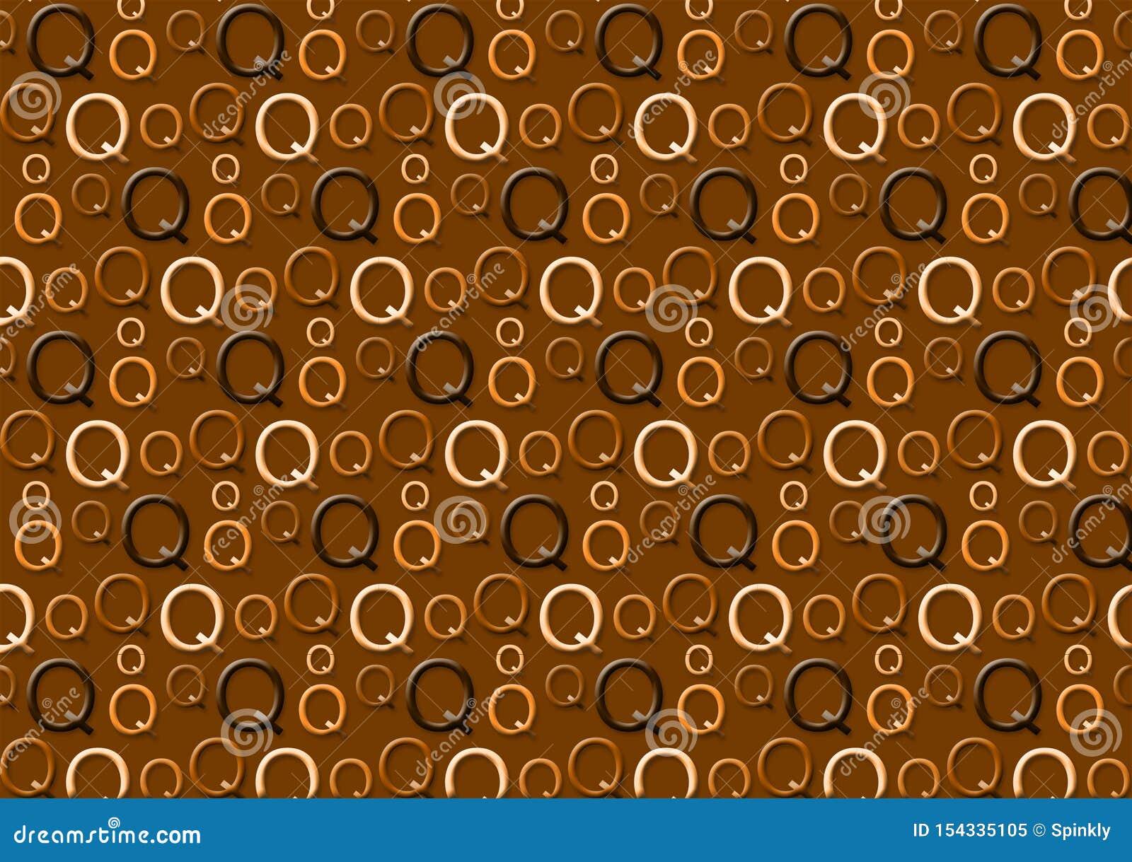 Brievenq patroon in verschillende gekleurde bruine schaduwen