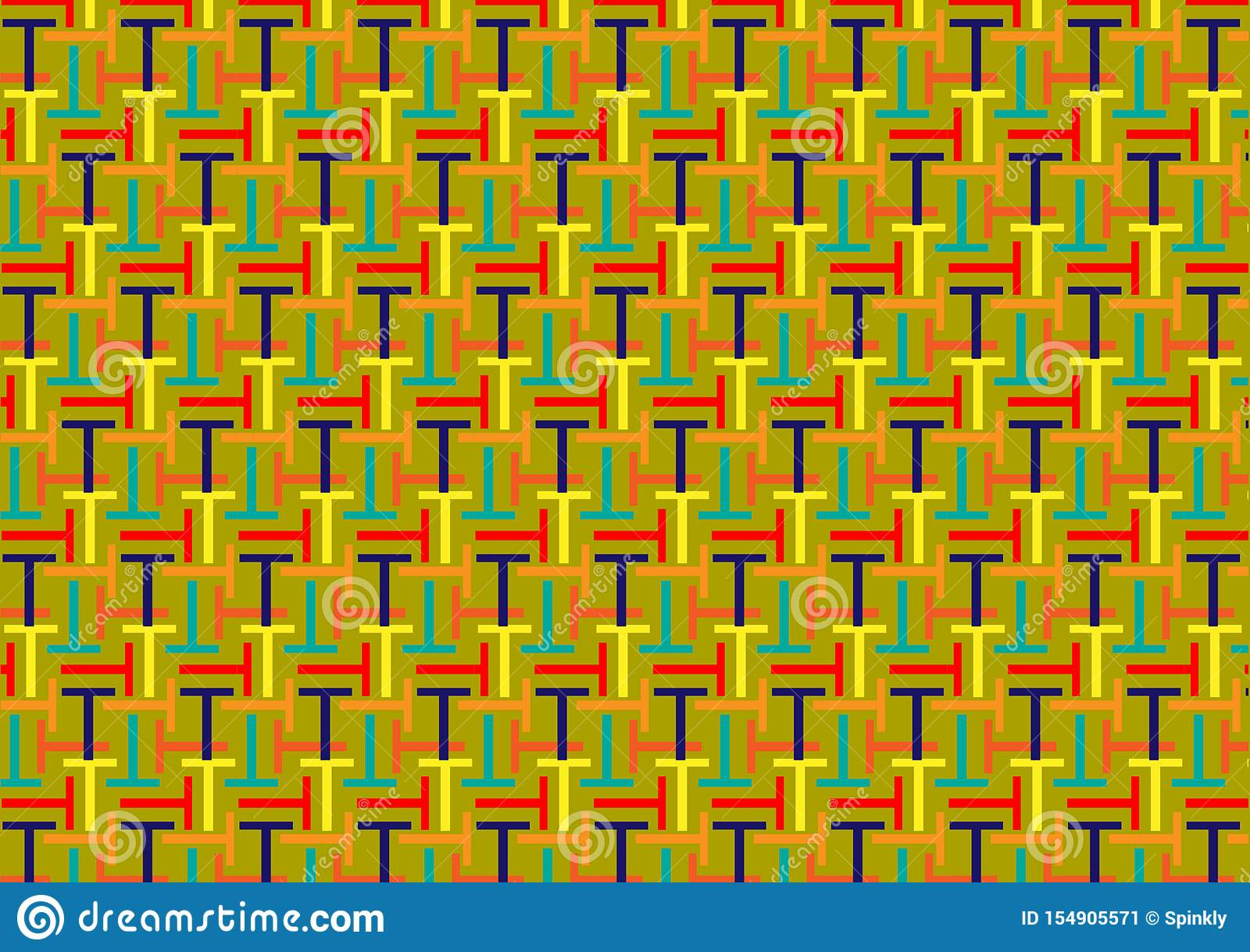 Brievent patroon in verschillende gekleurde schaduwen