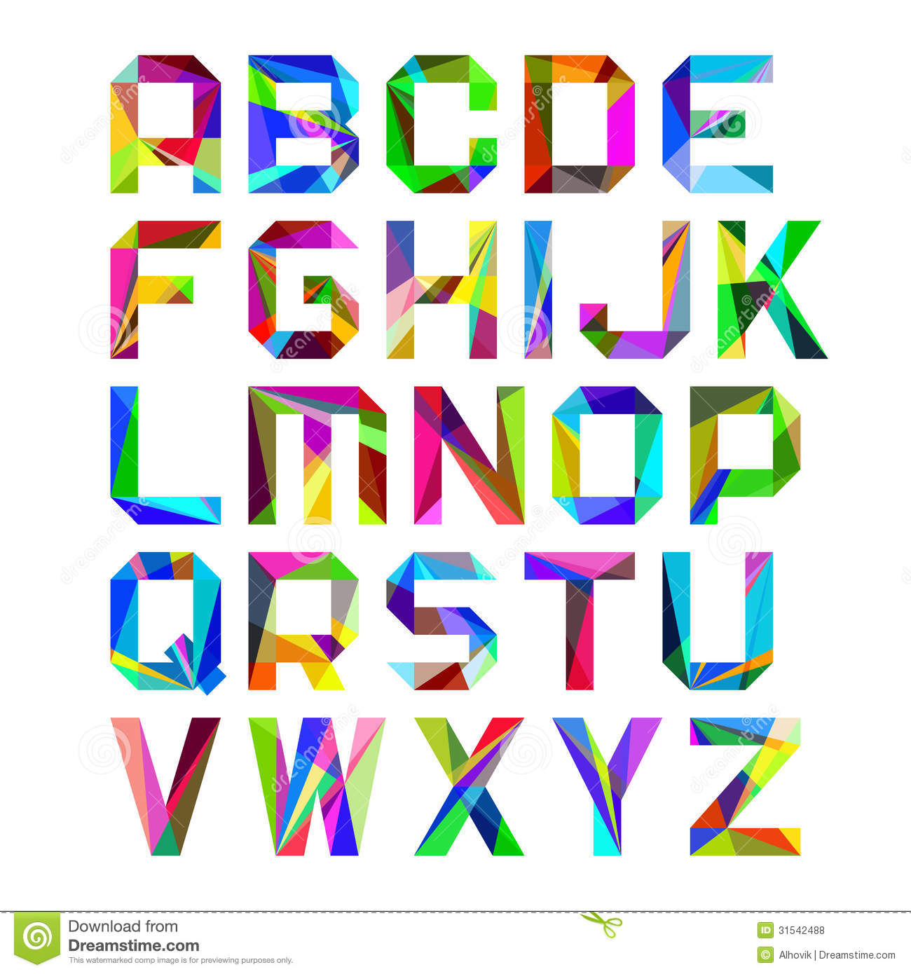 Bright alphabet letters stock vector. Image of typeface - 31542488
