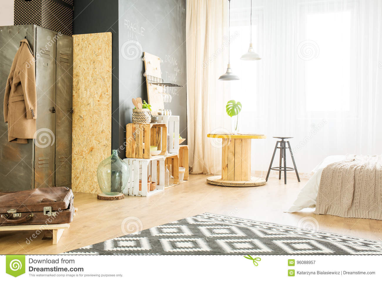 Bright apartment for hipster