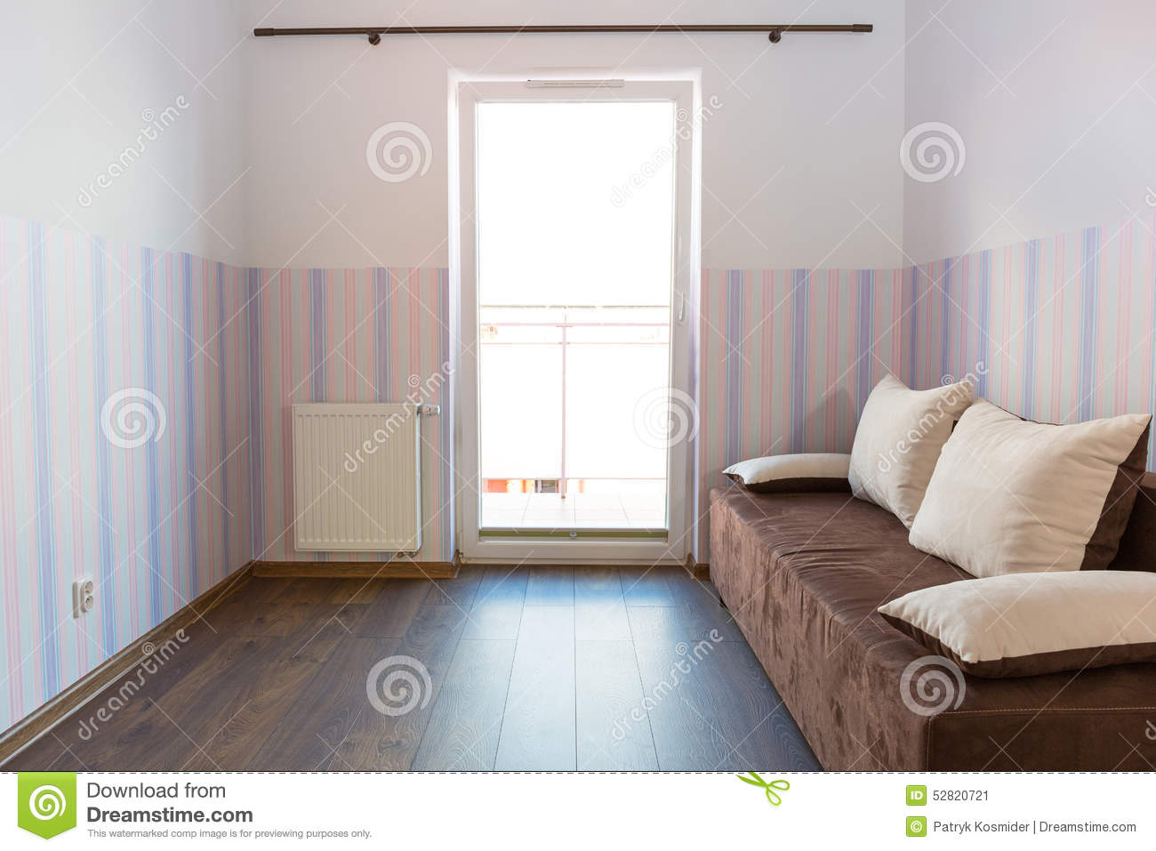 Bright Baby Room With Wallpaper Stock Photo Image 52820721