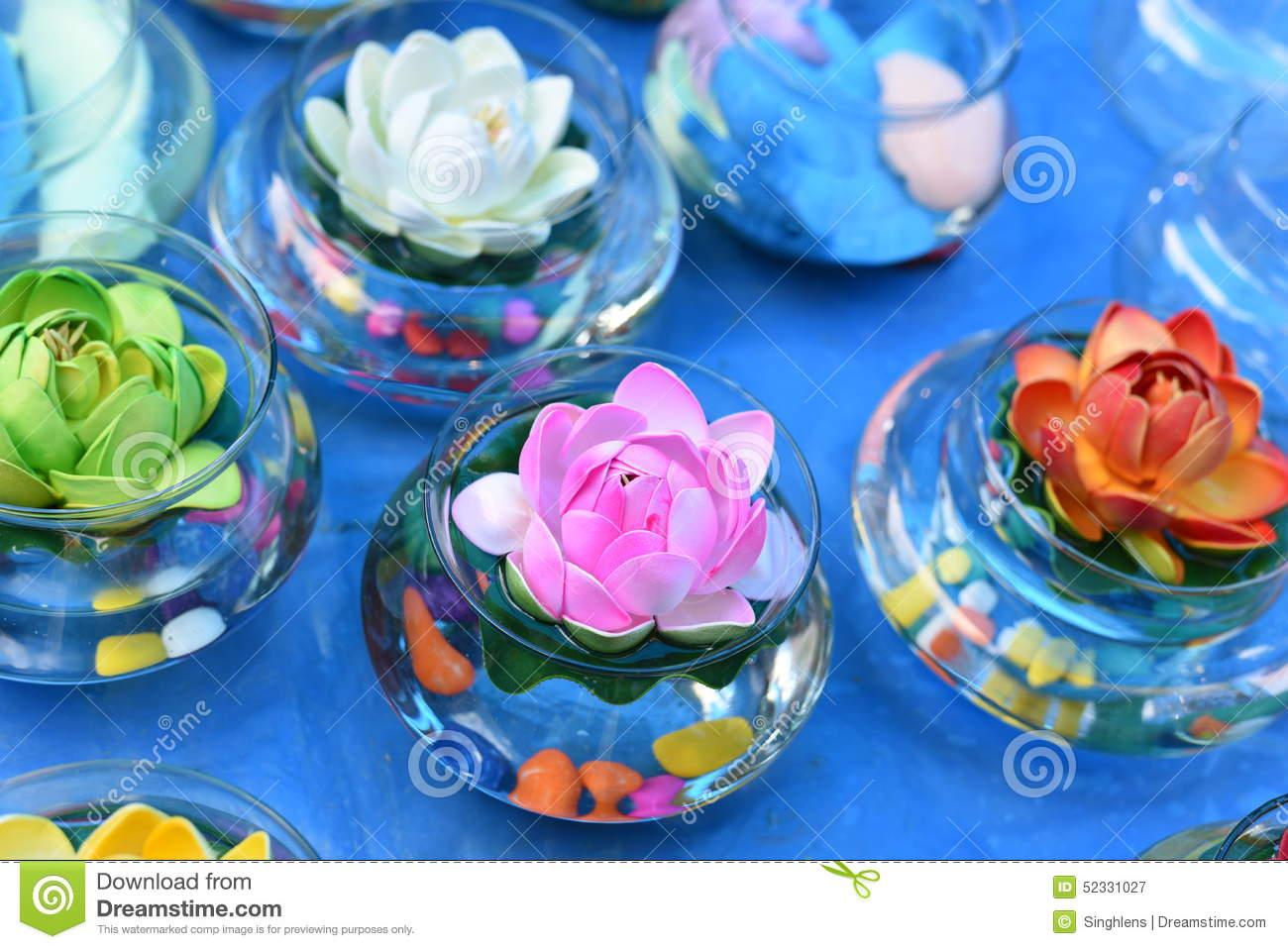 Bright And Beautiful Colors Of Plastic Flowers Stock Image Image