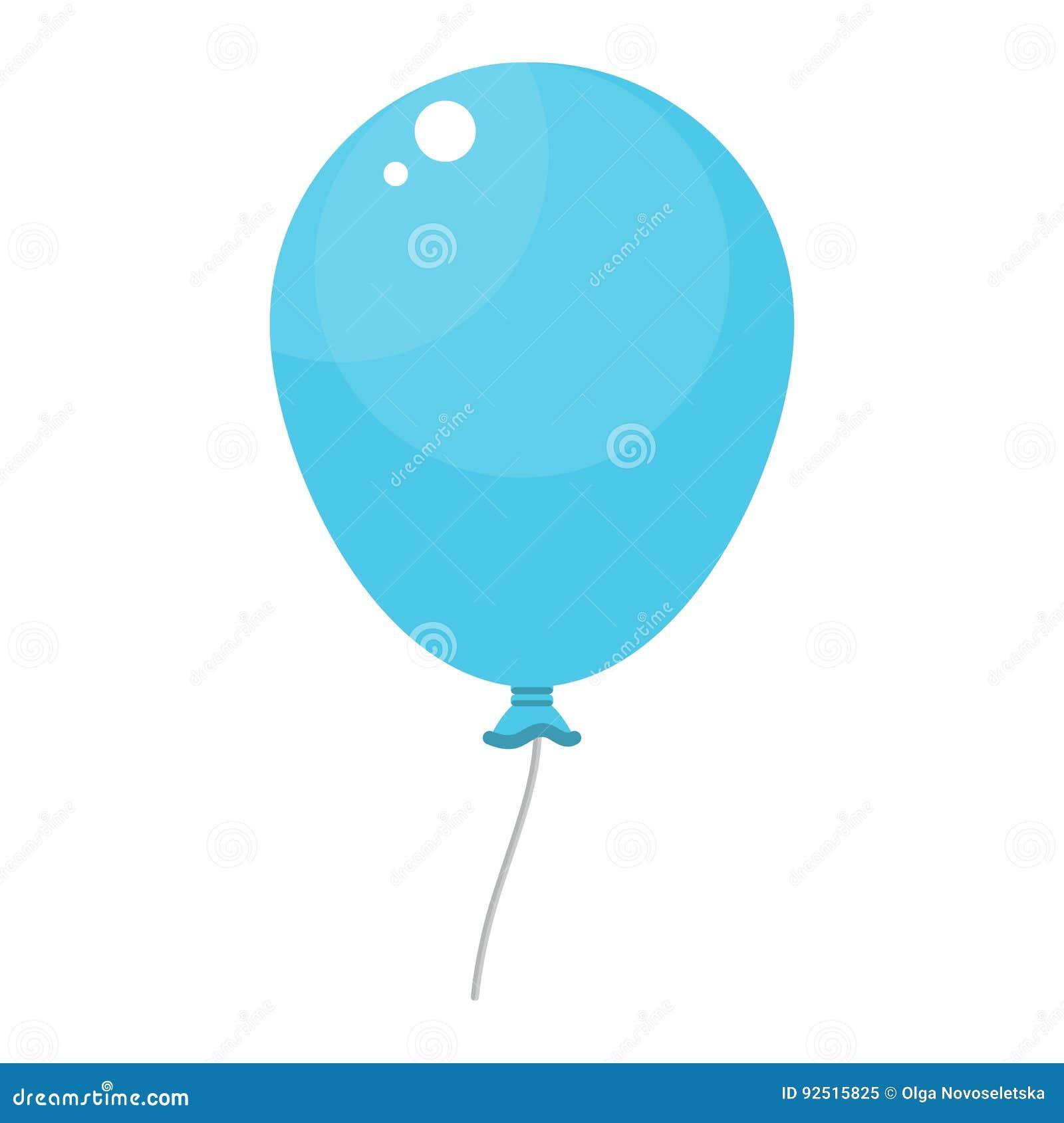 Bright Blue Balloon Stock Vector Illustration Of Concept 92515825