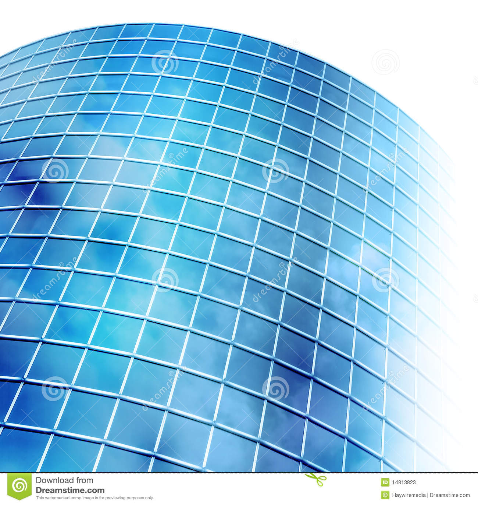 Bright Blue City Building Windows On White Stock Photos Image