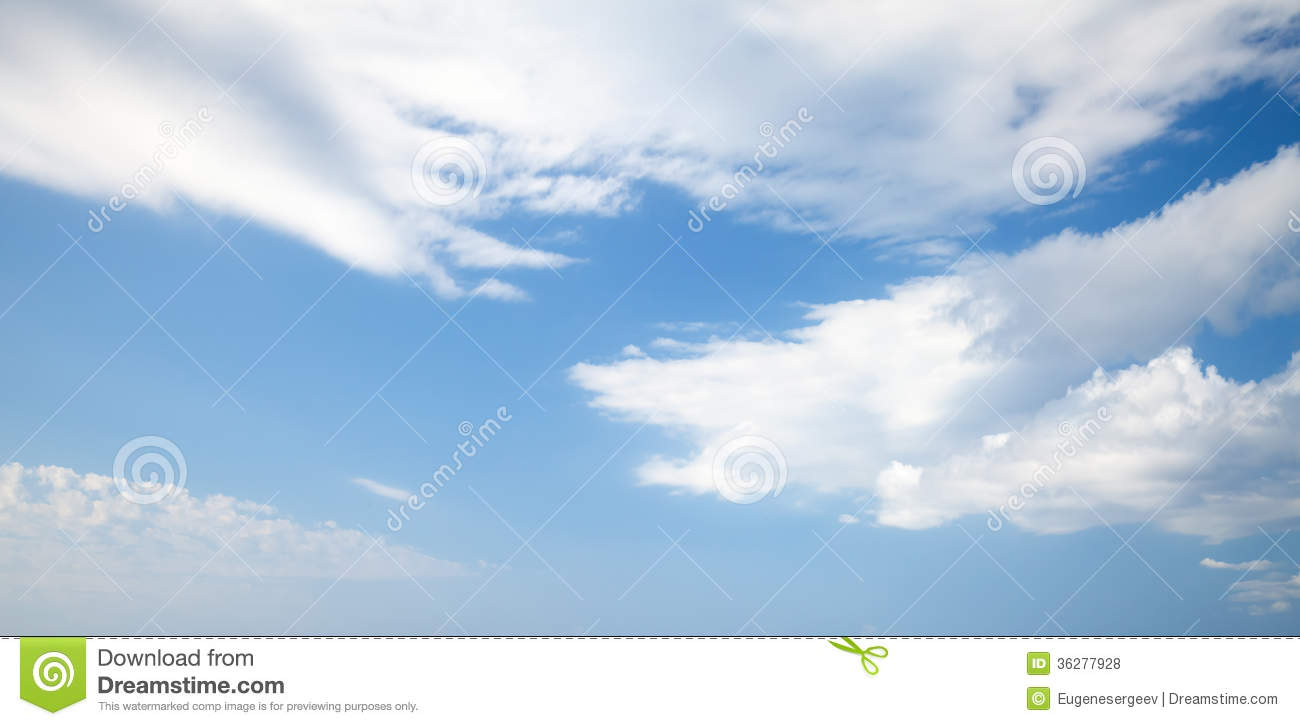 Bright Blue Cloudy Sky Background Texture Stock Photo ...