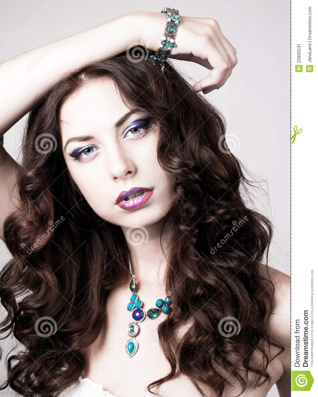 Portrait of a beautiful woman with an amazing make up for What make a beautiful