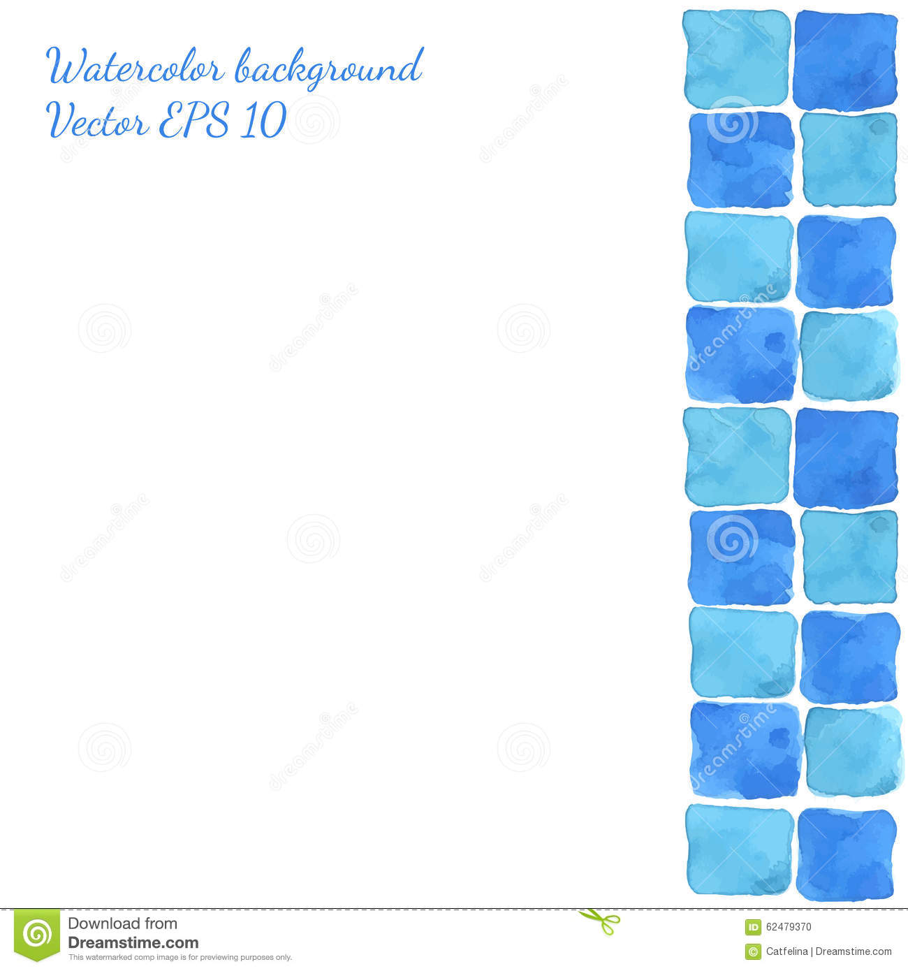 Bright blue green seamless watercolor tile background Bright blue tile