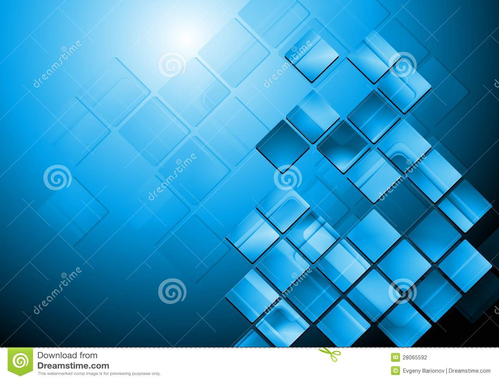 Blue Technology: Bright Blue Hi-tech Vector Design Stock Photography