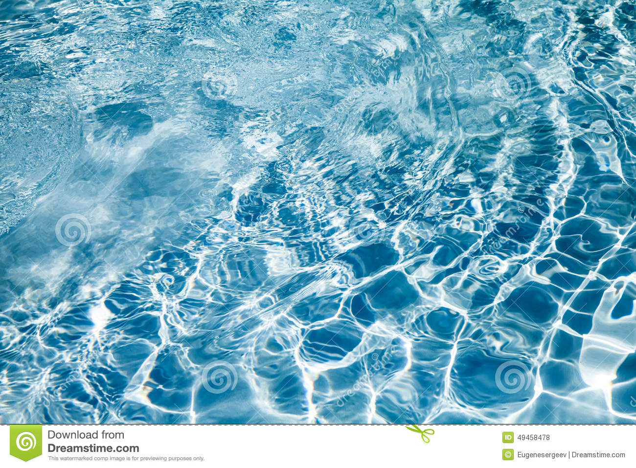 Bright blue pool water background texture stock photo for Blue water parts piscine